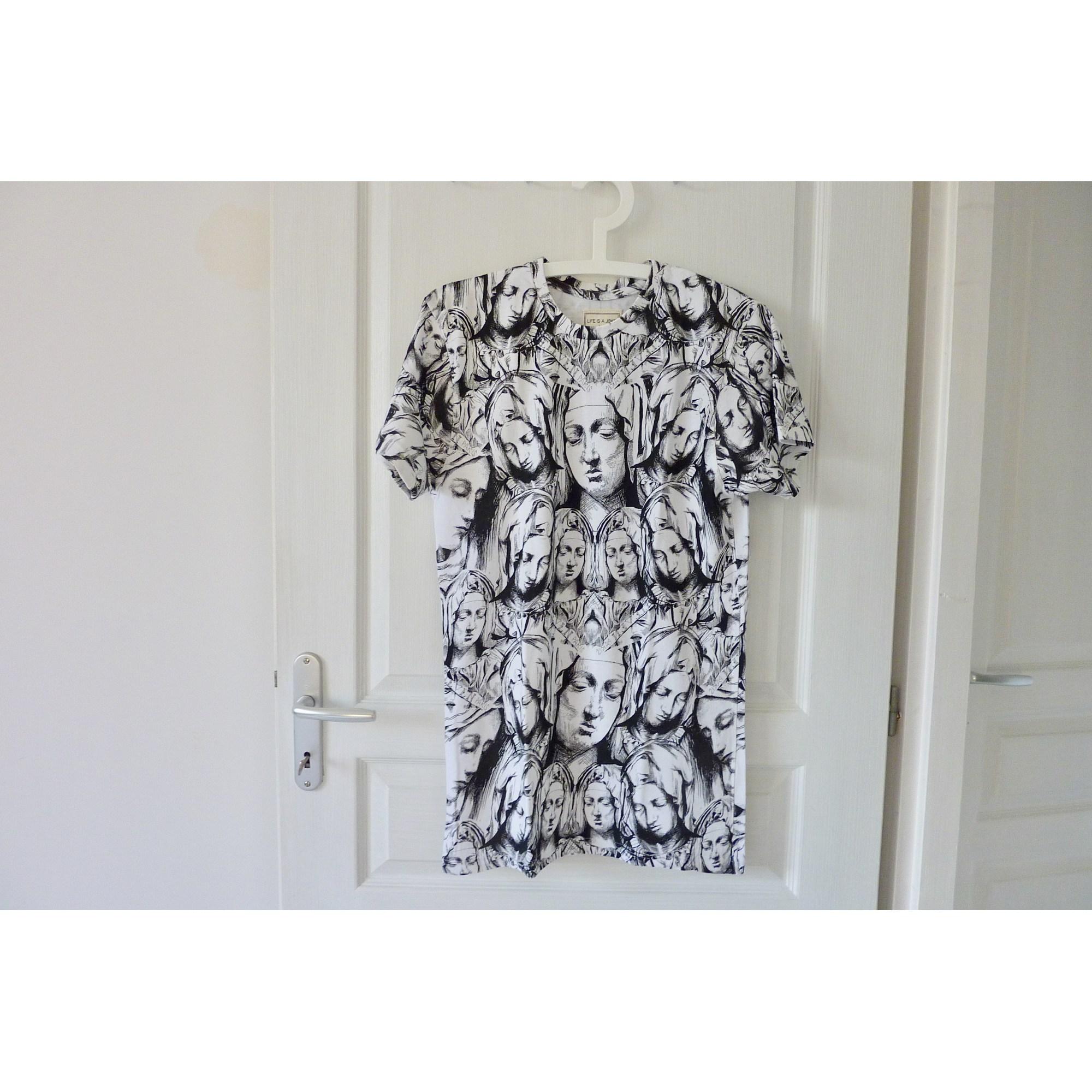 Tee-shirt ELEVEN PARIS Blanc, blanc cassé, écru