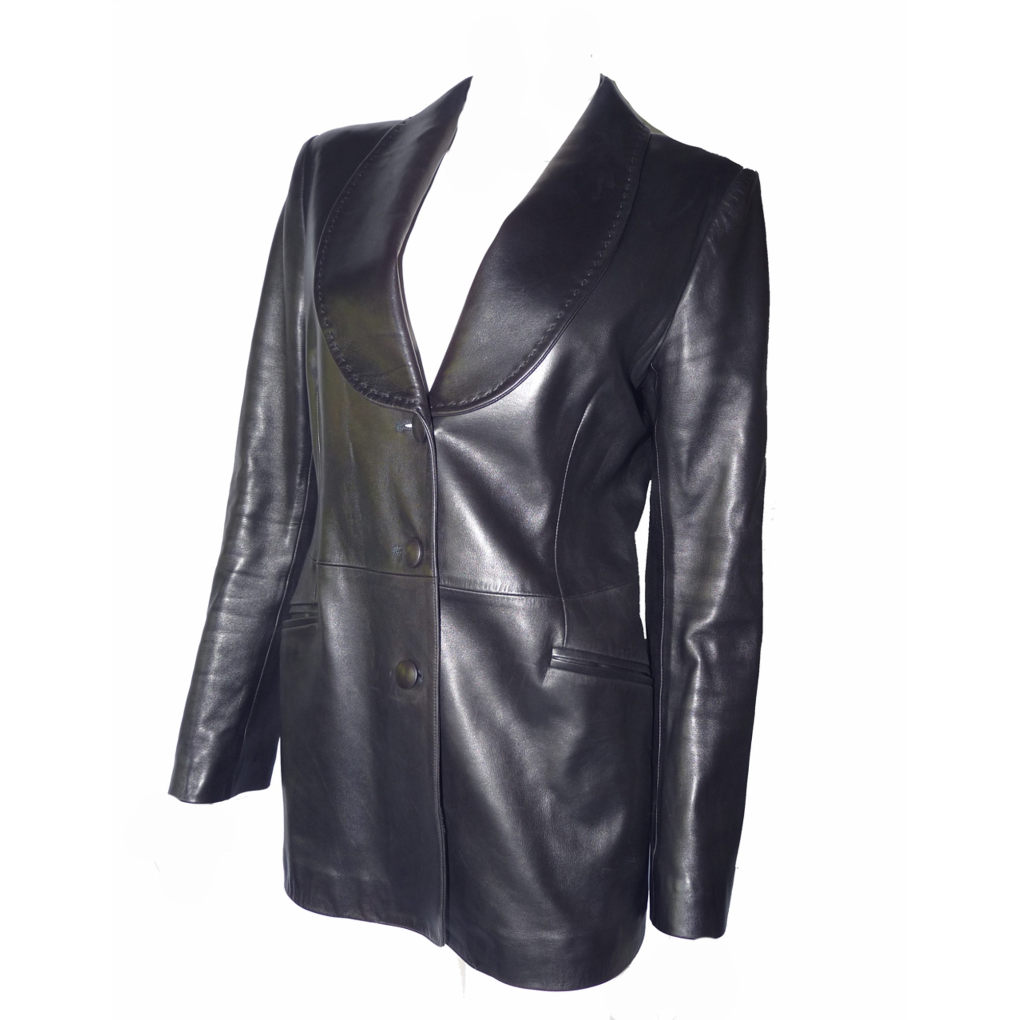 joseph cuir femme veste noir