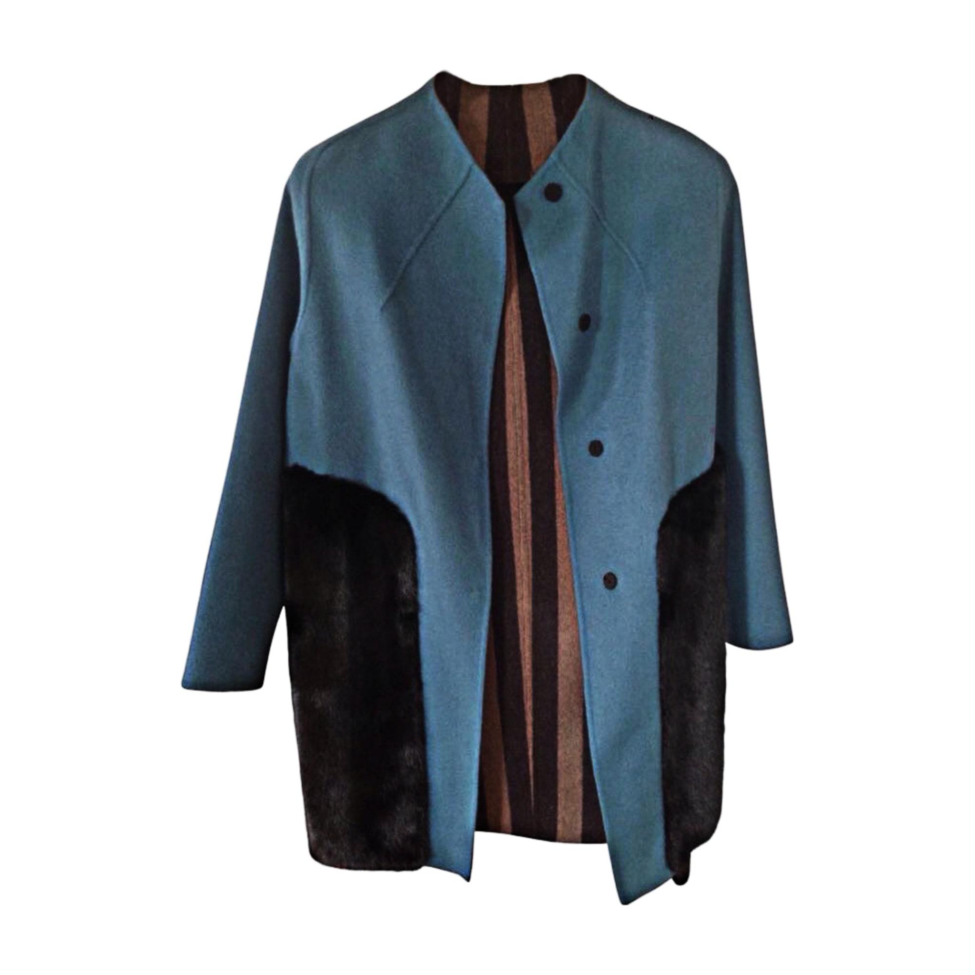 Manteau FENDI Bleu, bleu marine, bleu turquoise