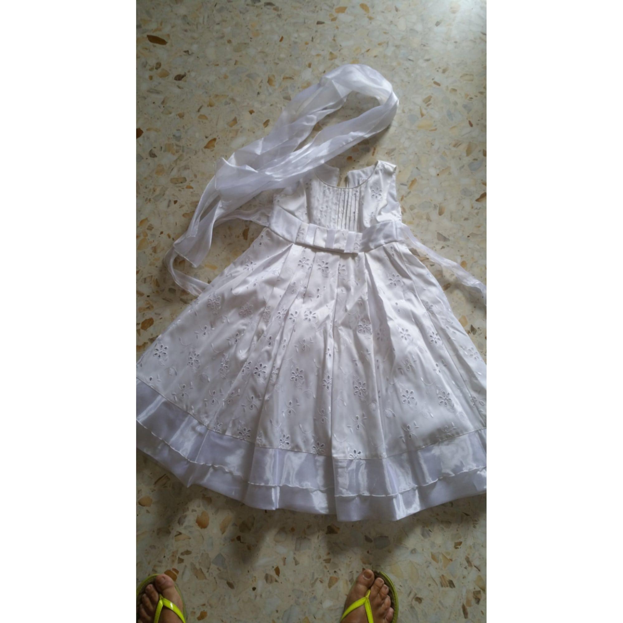 Robe CHRISTELLA Blanc, blanc cassé, écru