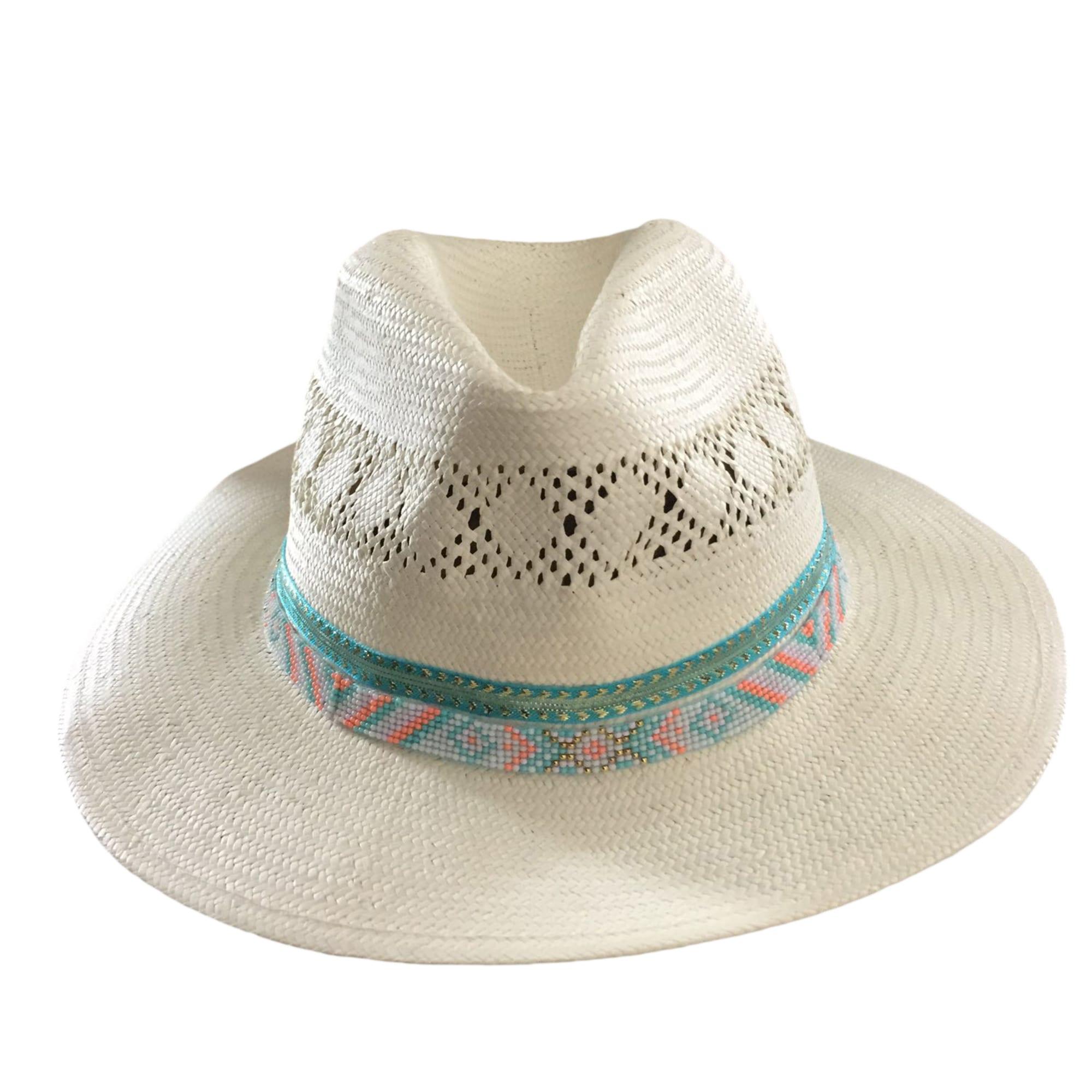 Chapeau HIPANEMA Blanc, blanc cassé, écru