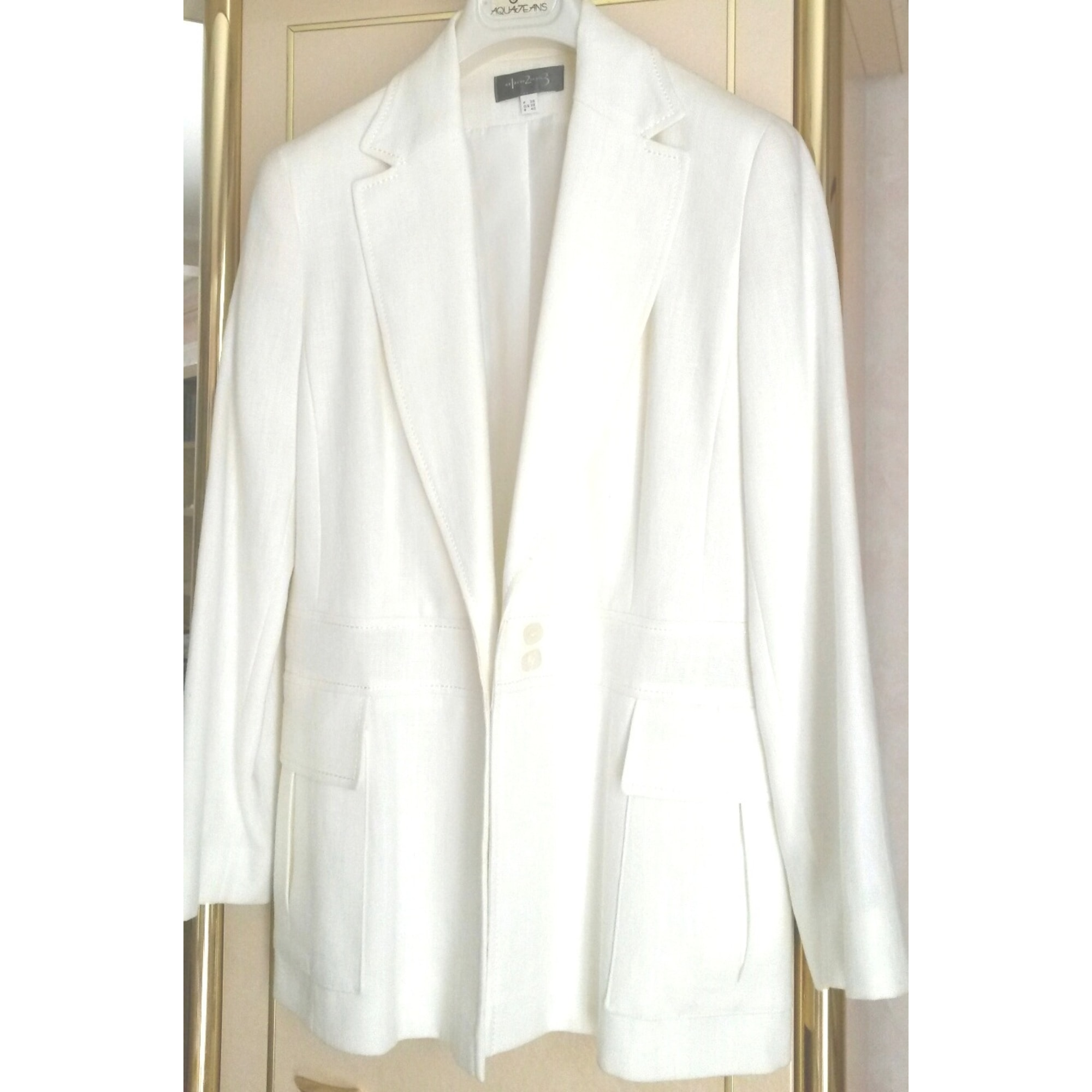 : Ecru Blazers Tailleurs : Vêtements