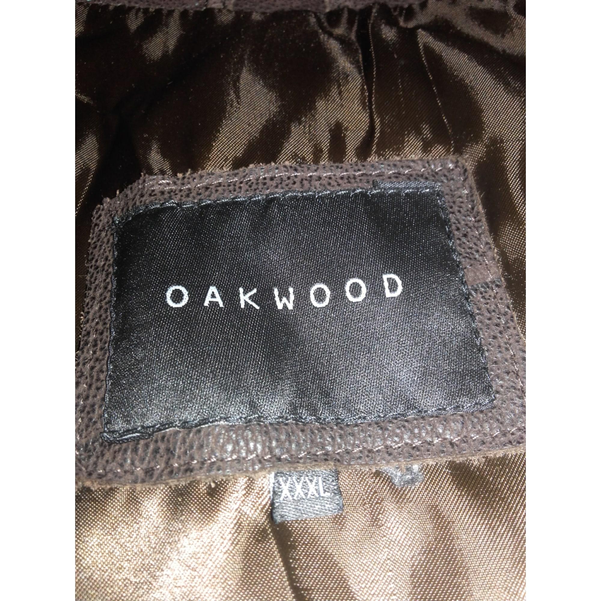 Veste en cuir OAKWOOD Marron