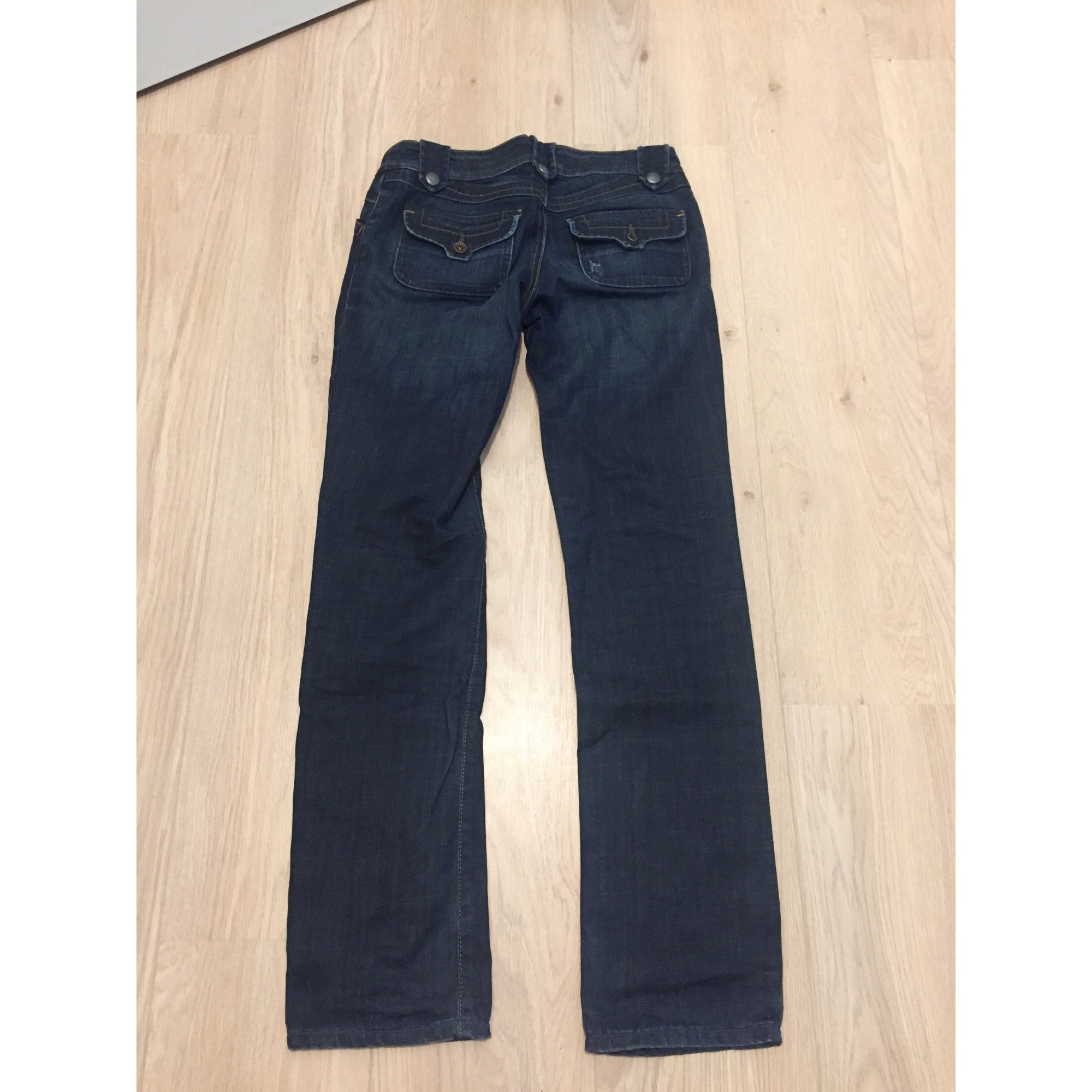 Jeans droit DIESEL Doré, bronze, cuivre