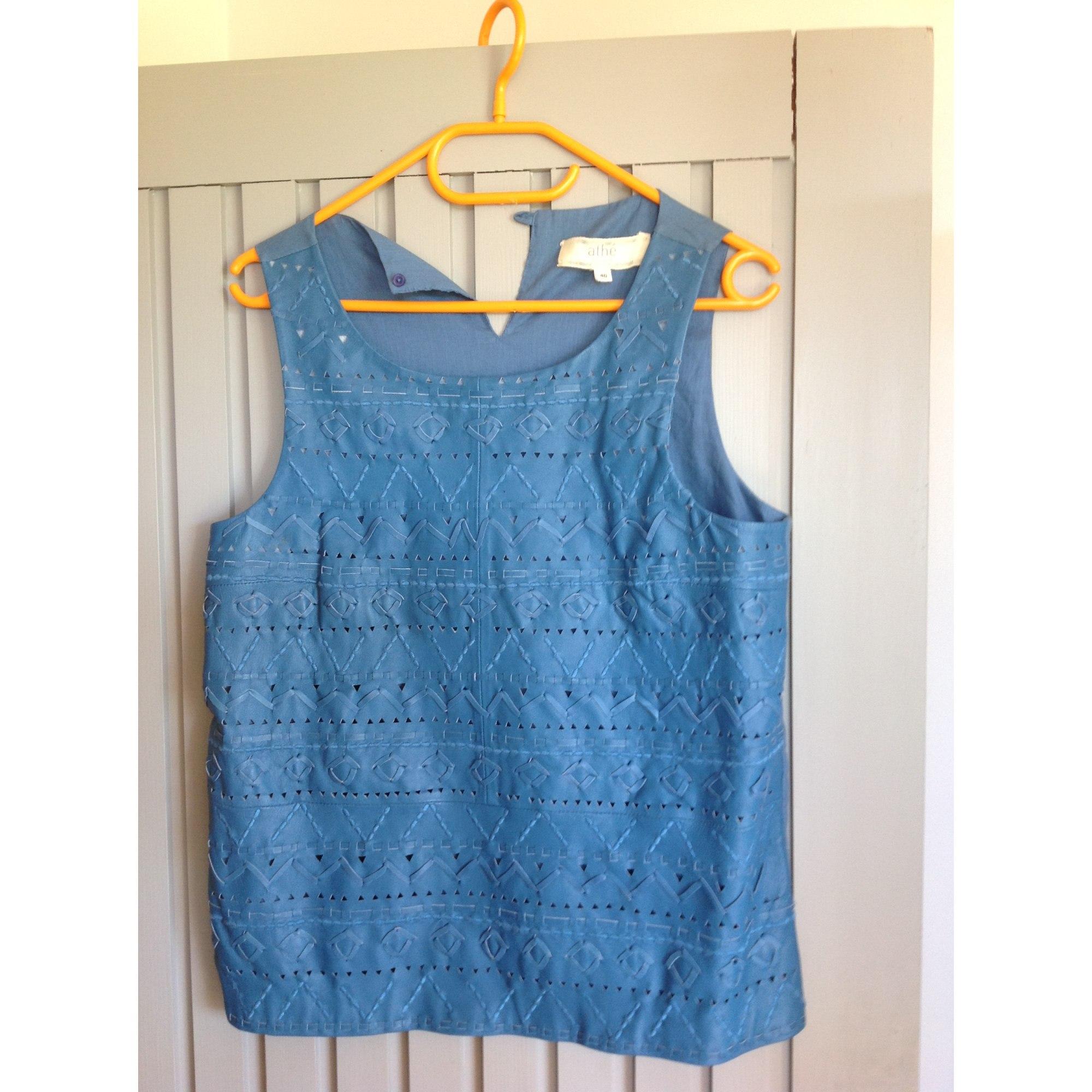 Top, tee-shirt ATHÉ VANESSA BRUNO Bleu, bleu marine, bleu turquoise