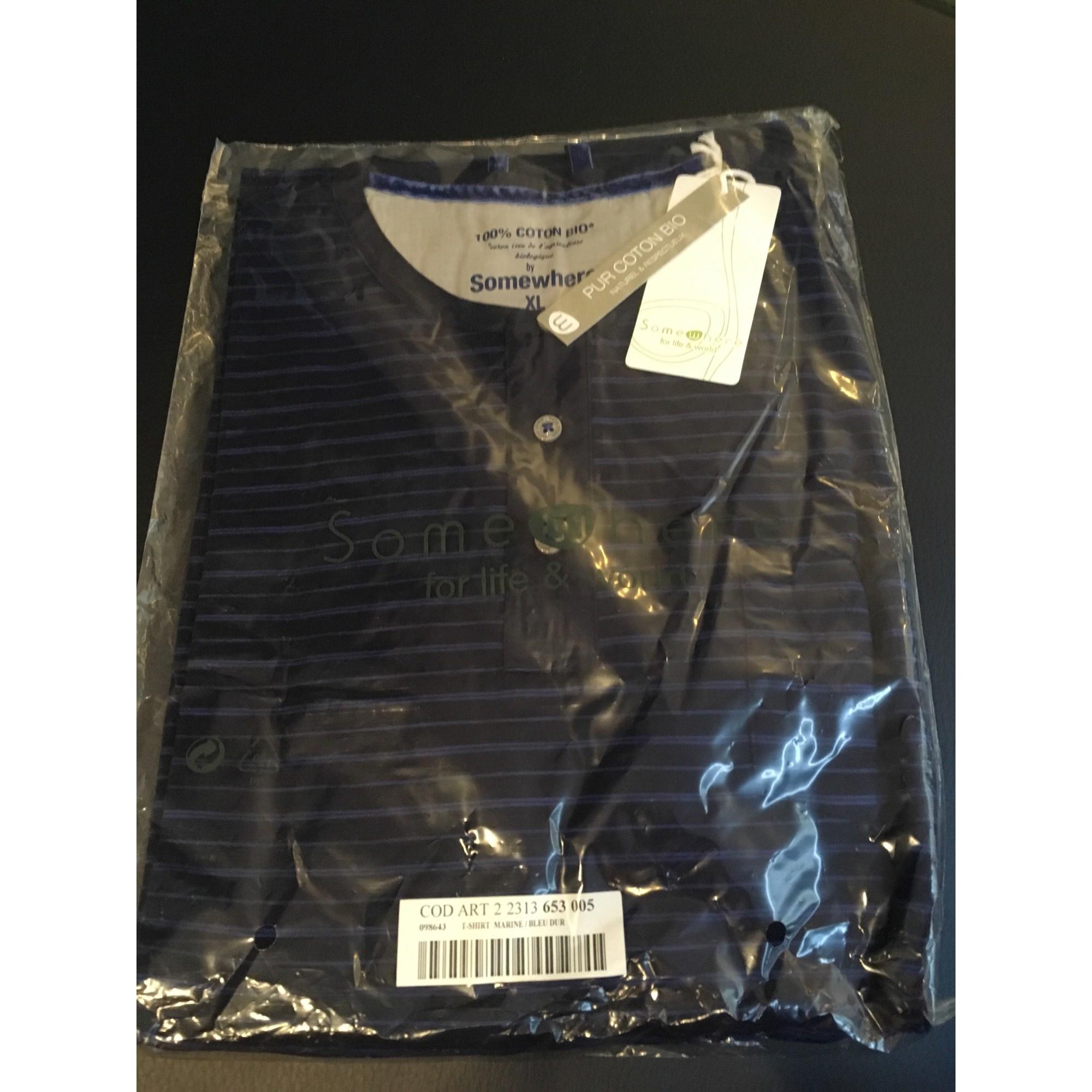 Tee-shirt SOMEWHERE Bleu, bleu marine, bleu turquoise