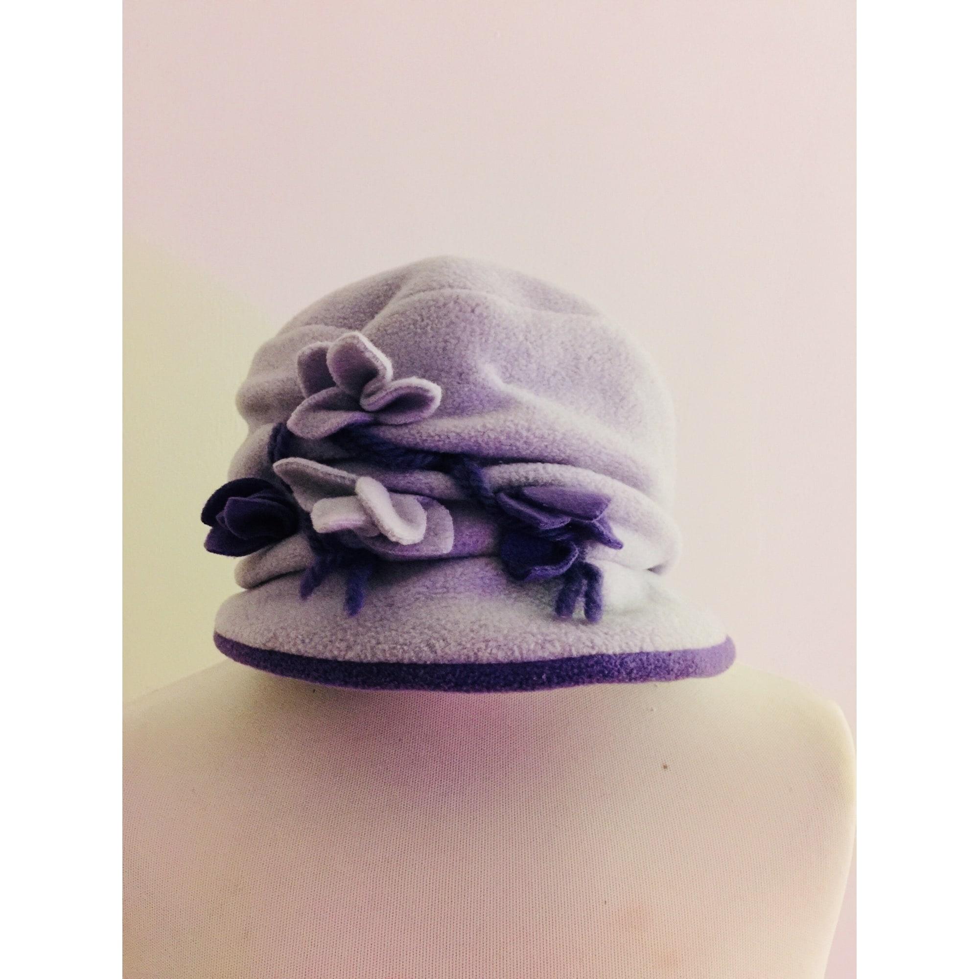 Chapeau ANGIOLO FRASCONI Violet, mauve, lavande