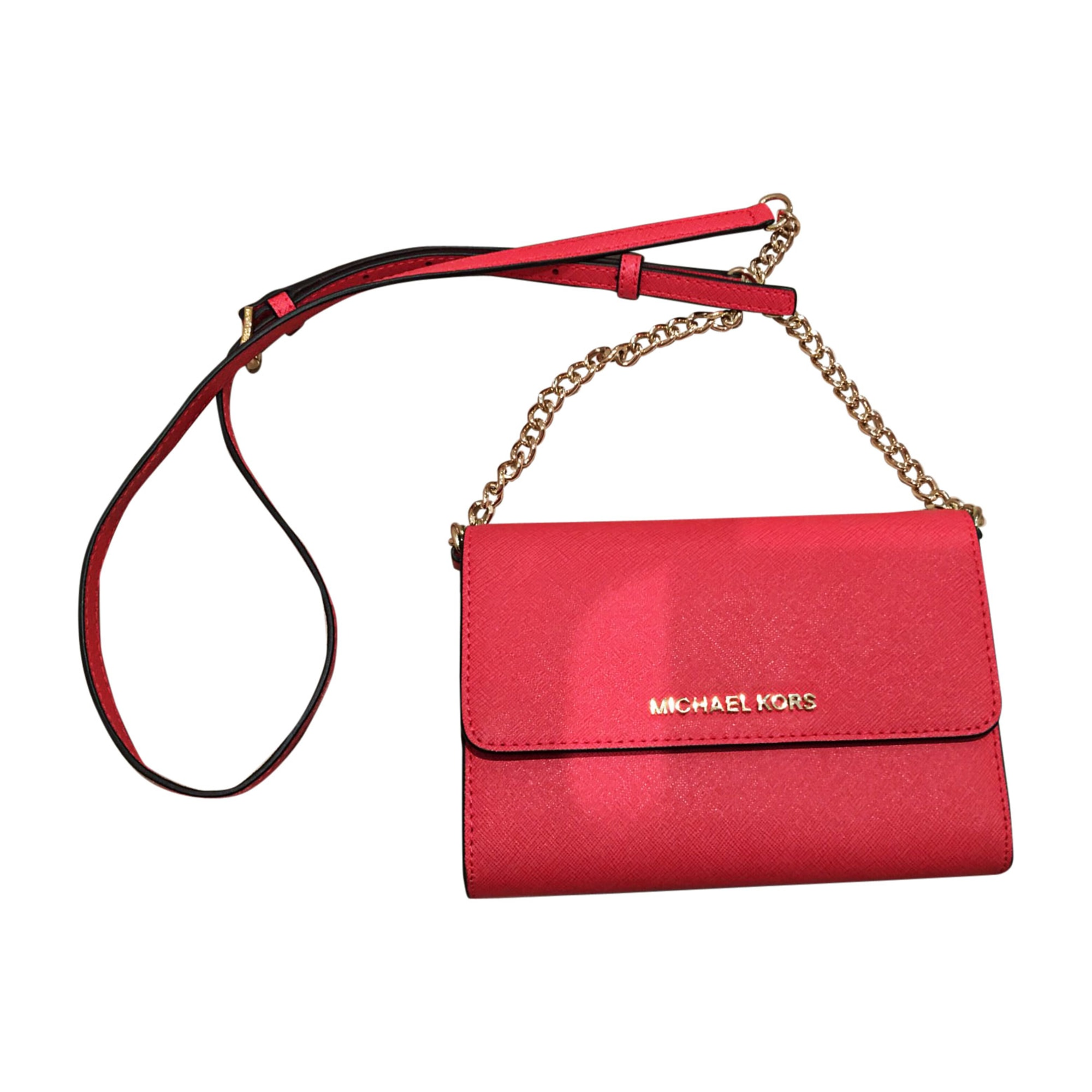 sac pochette michael kors bordeau