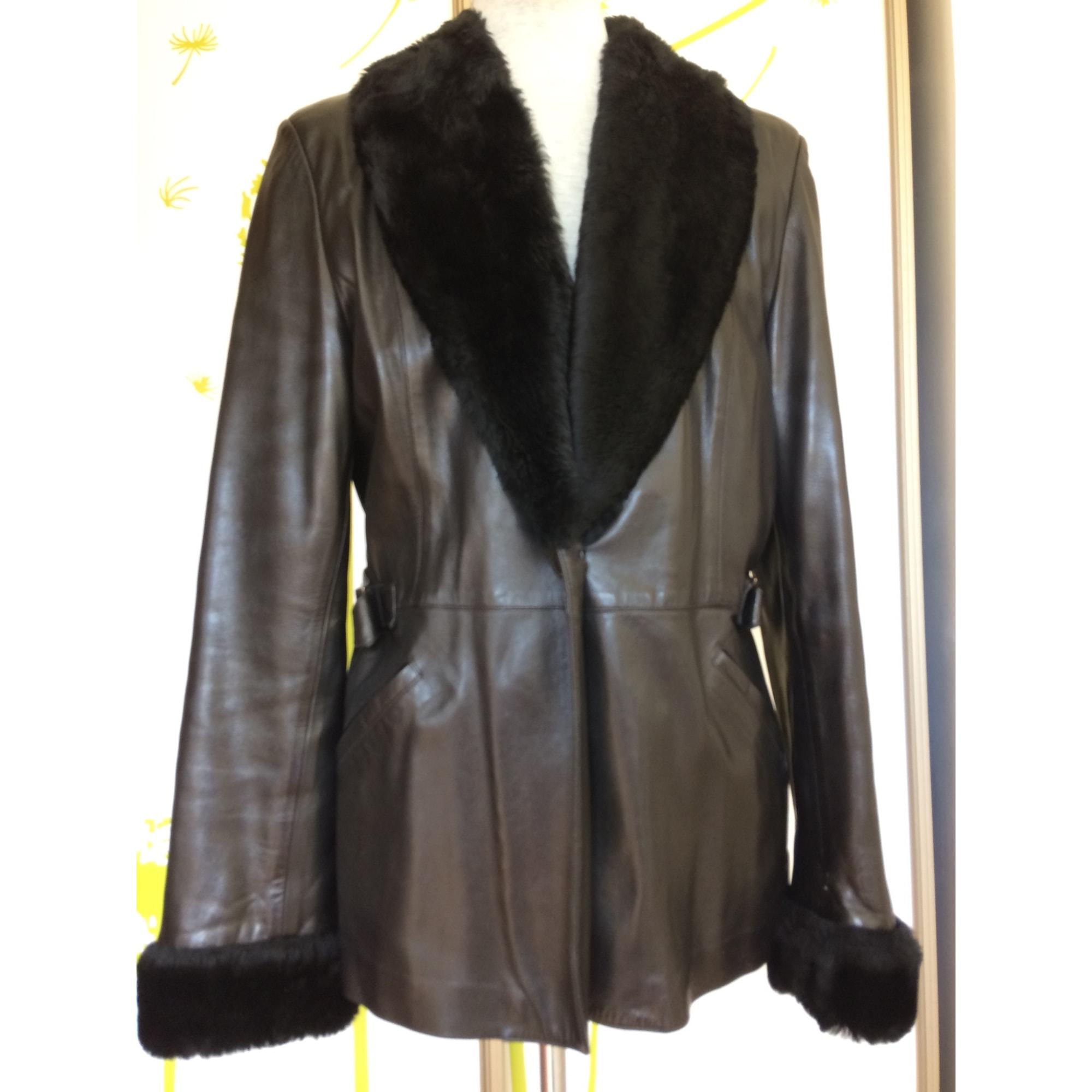 Blouson, veste en fourrure SPRUNG FRÈRES Noir