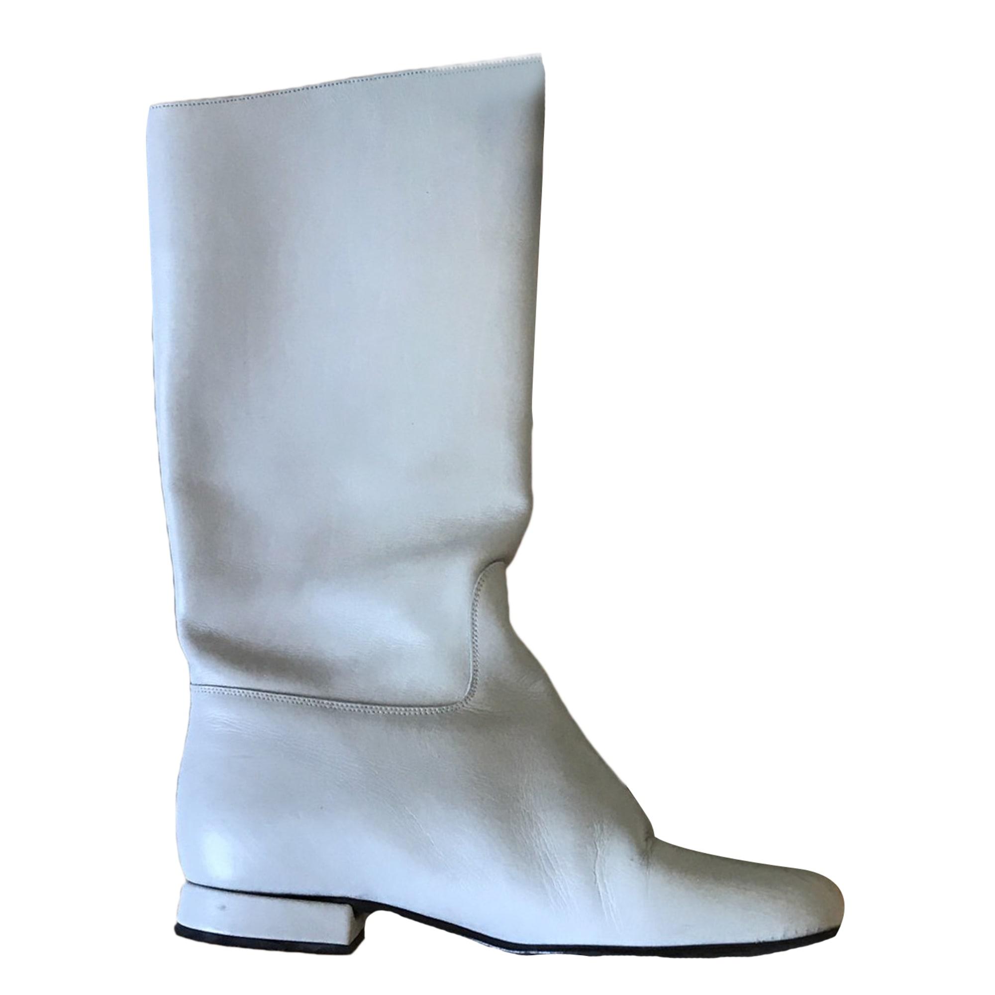 Bottes plates FREE LANCE Blanc, blanc cassé, écru
