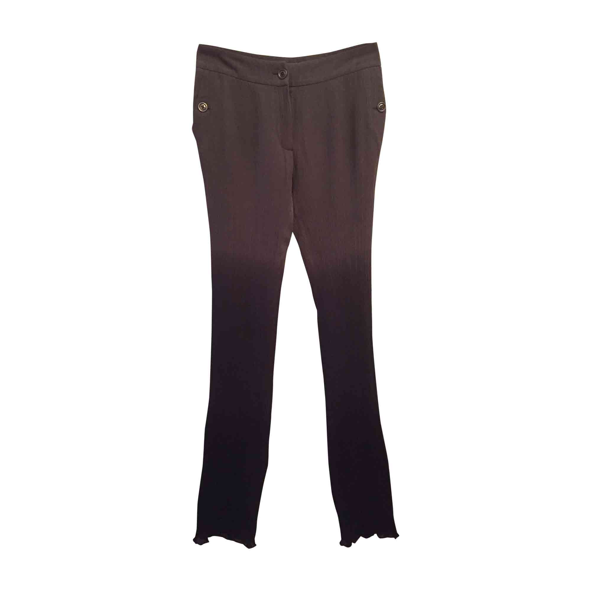 Pantalon slim, cigarette BURBERRY Gris, anthracite