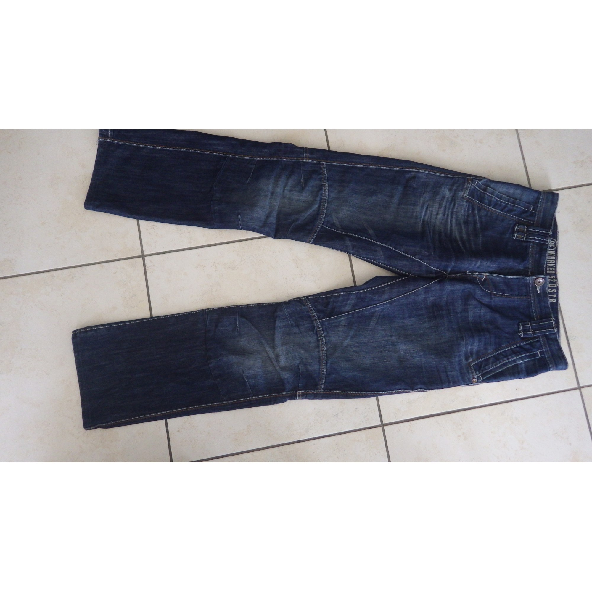 Jeans droit ANGELO LITRICO Bleu, bleu marine, bleu turquoise