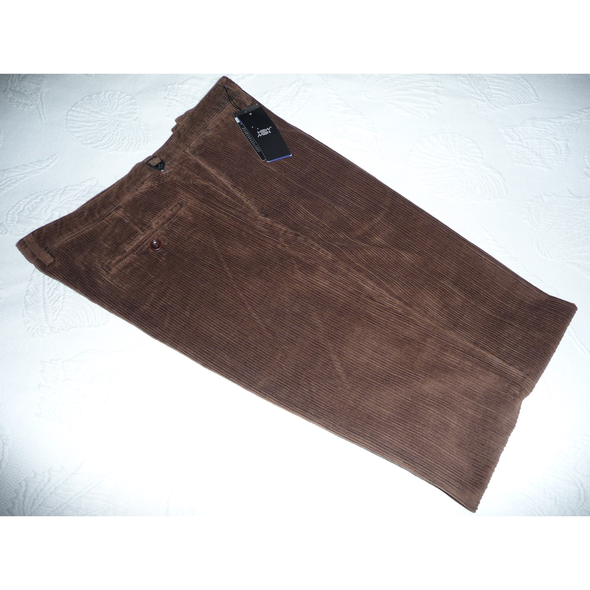 Pantalon droit NEW MAN Marron