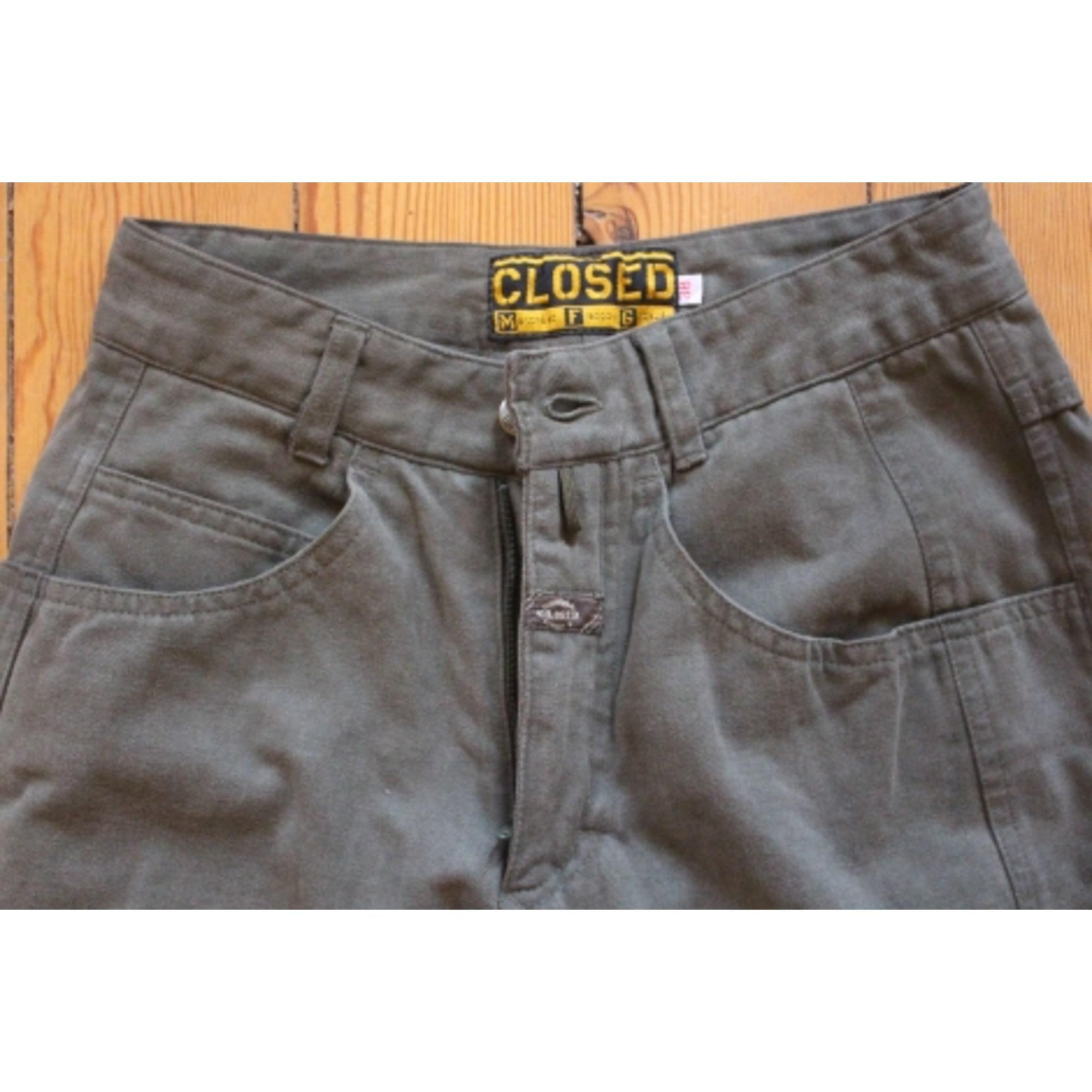 Pantalon slim, cigarette CLOSED Kaki
