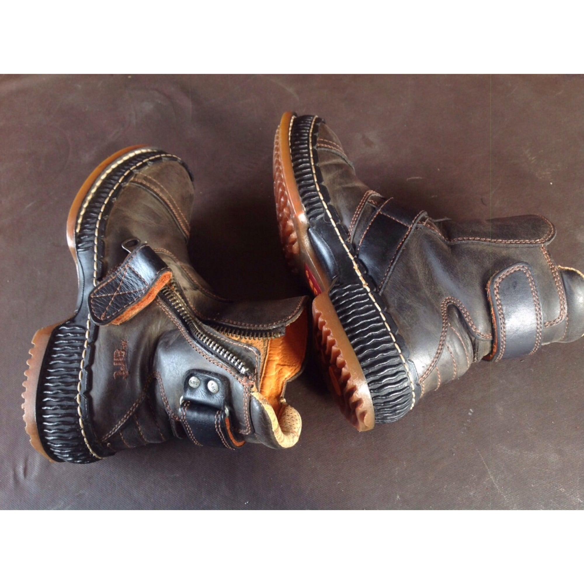 Bottines & low boots plates ART Entre marron et gris