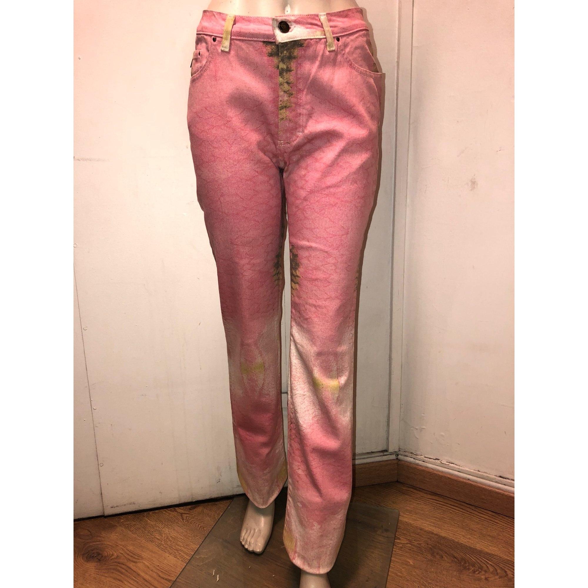 Pantalon droit JUST CAVALLI Multicouleur