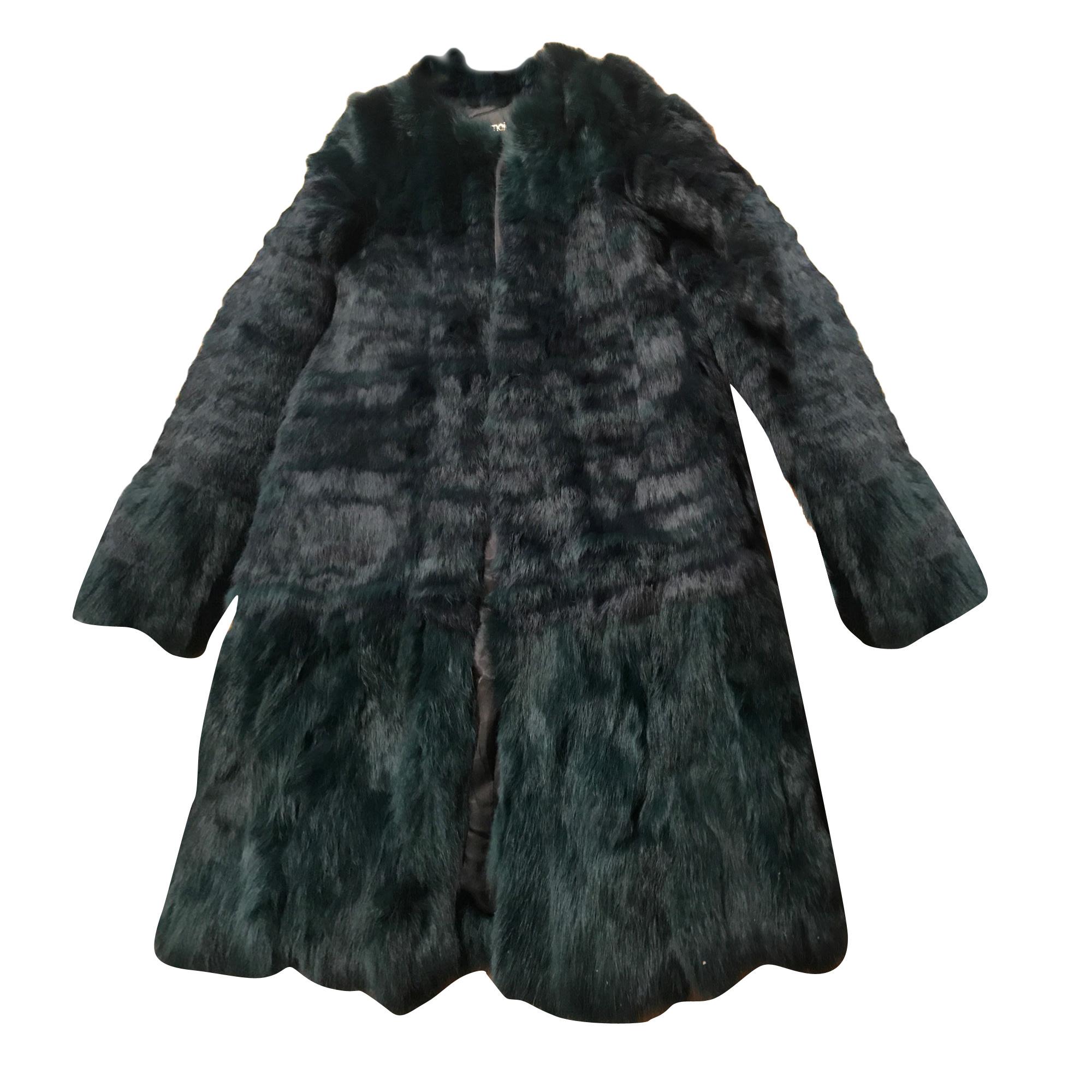 Blouson, veste en fourrure MAJE Vert
