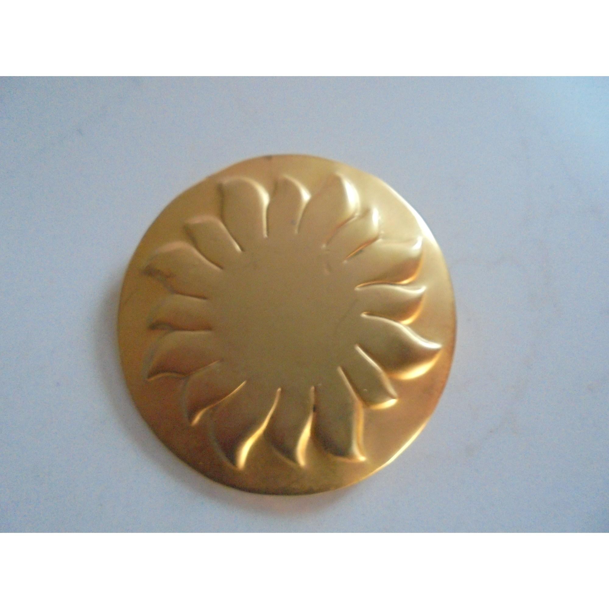 Broche SOLEIADO Doré, bronze, cuivre