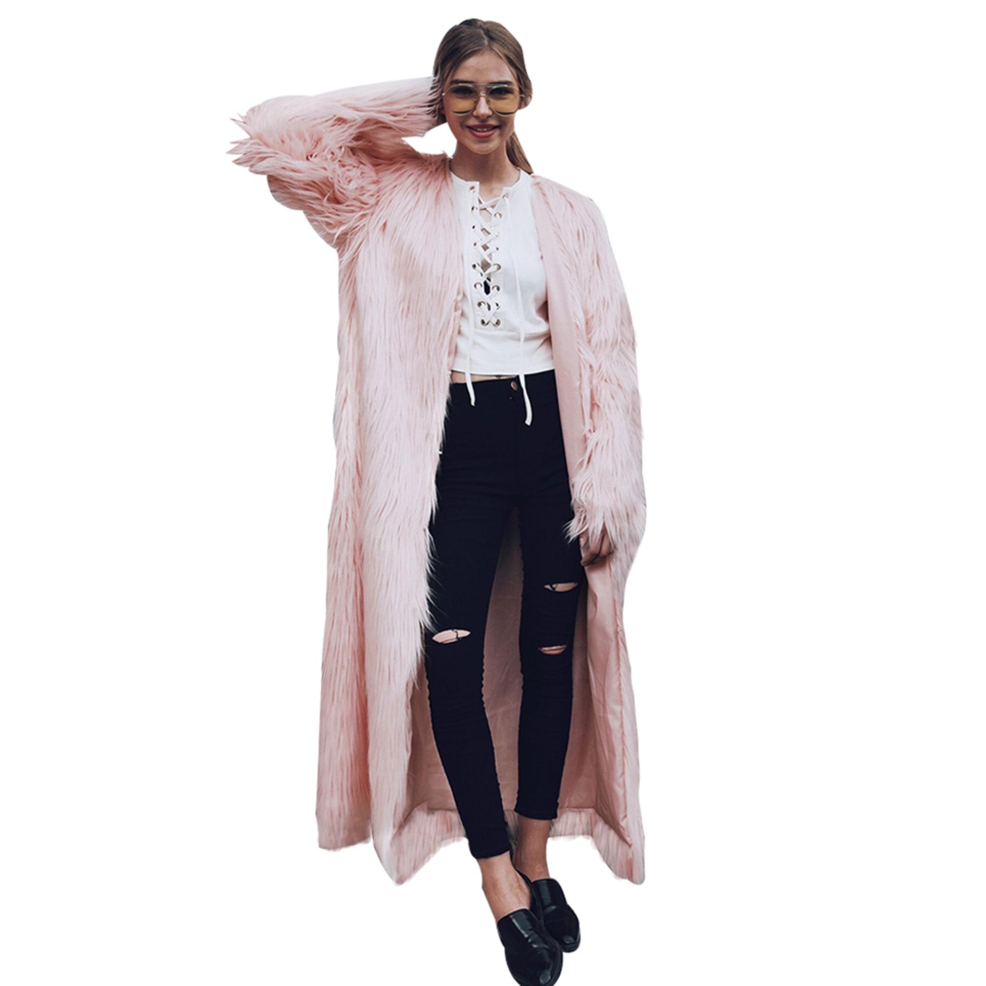 Manteau en fourrure CATCHYMARKET Rose, fuschia, vieux rose
