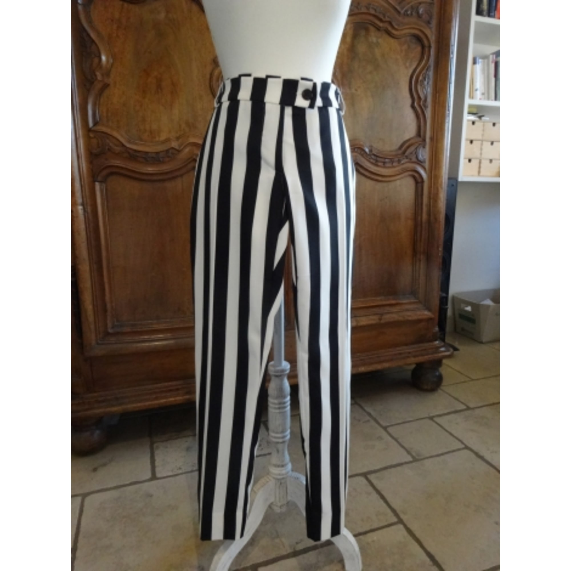 Pantalon droit PLEASE Blanc, blanc cassé, écru