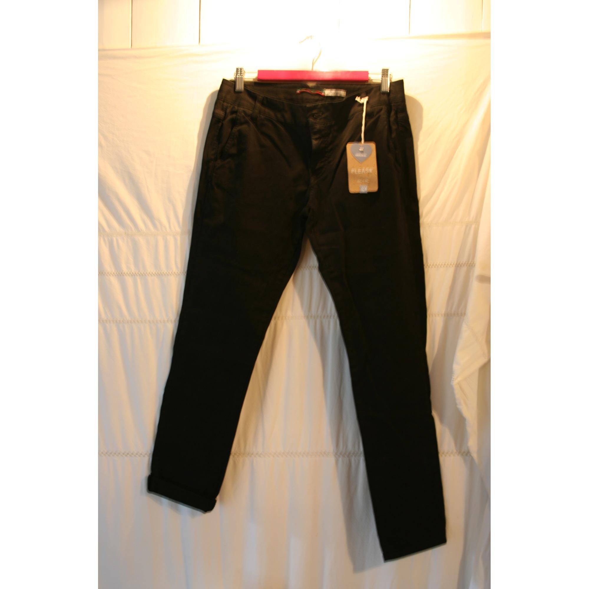 Pantalon droit PLEASE Noir
