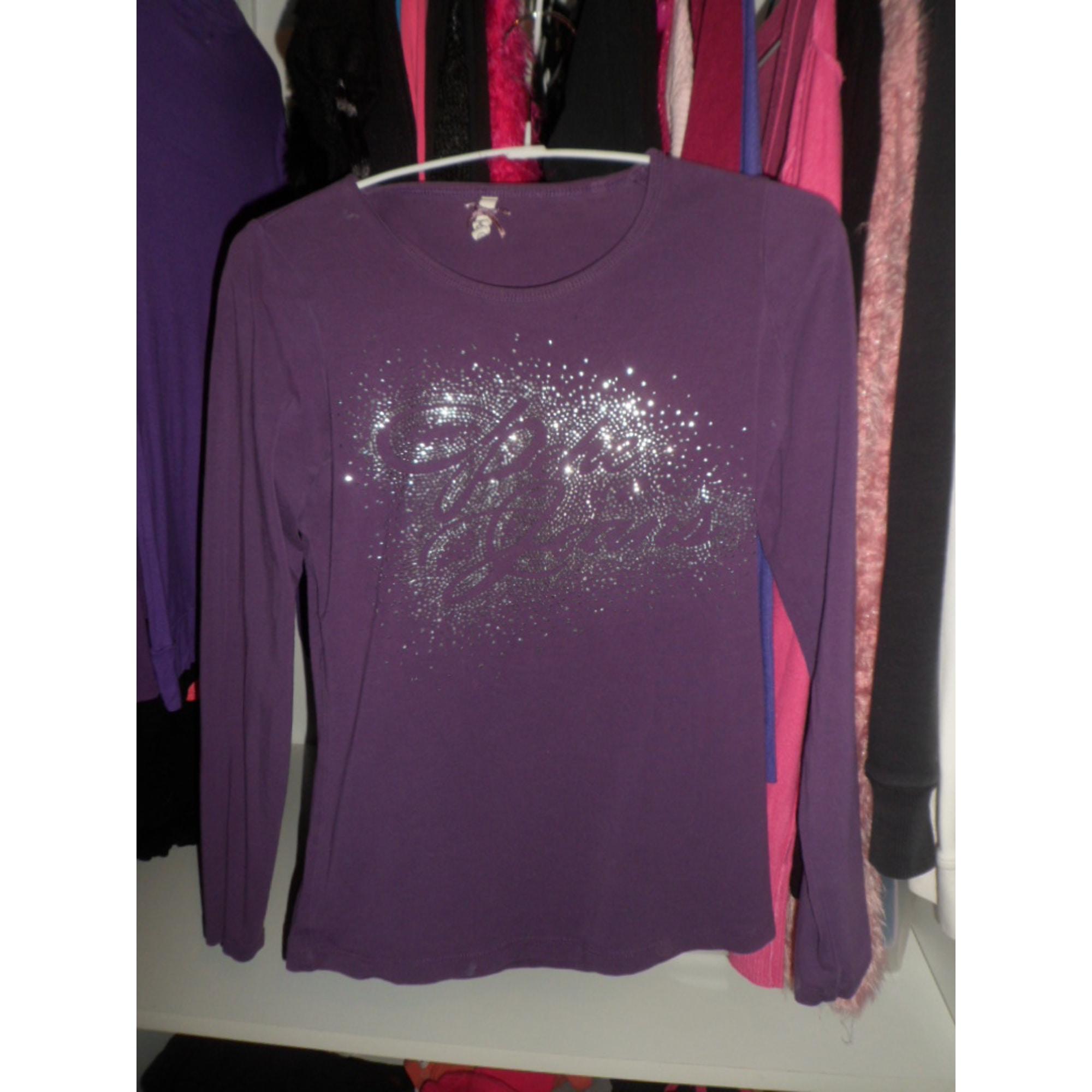 Top, tee-shirt PEPE JEANS Violet, mauve, lavande
