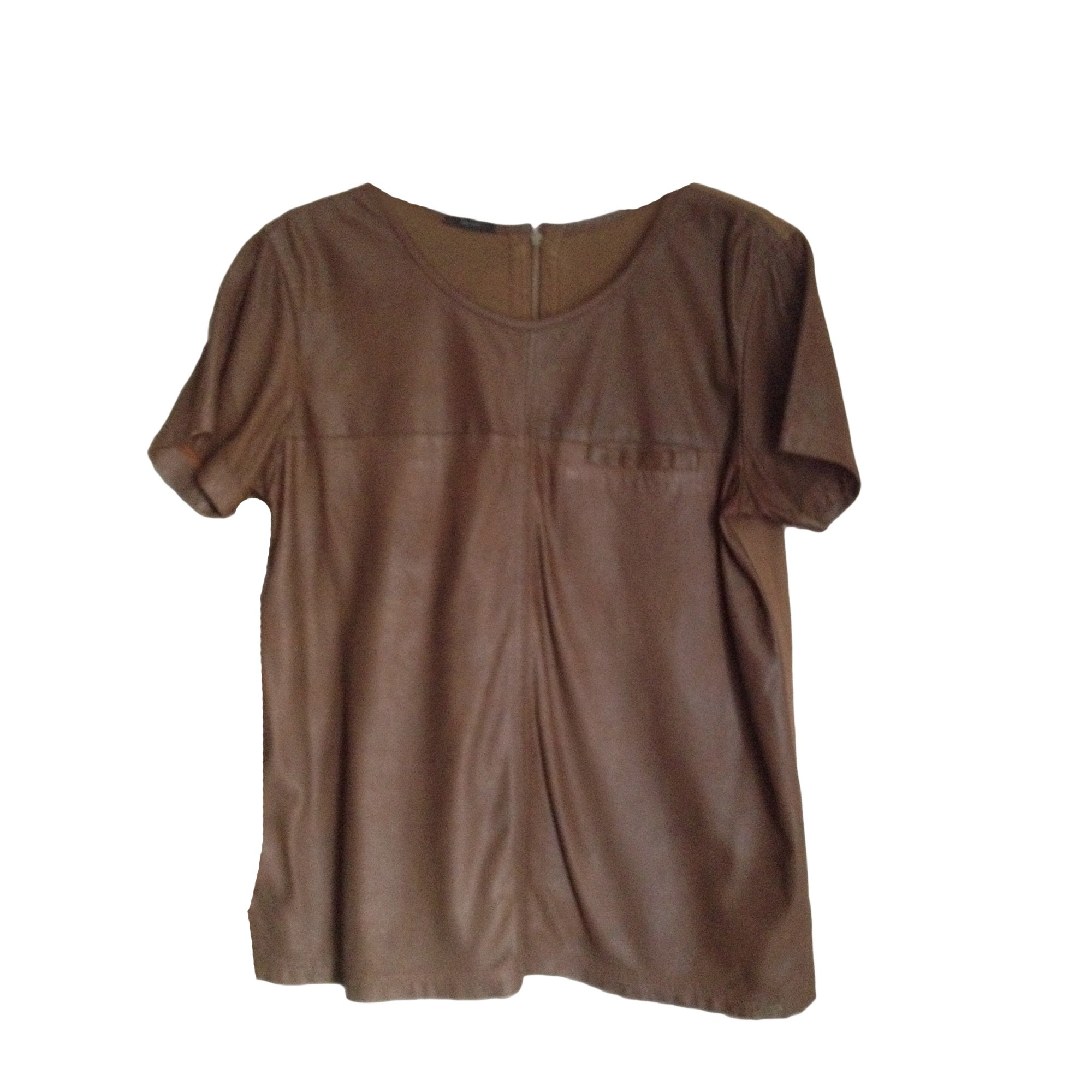 Top, tee-shirt IKKS Marron