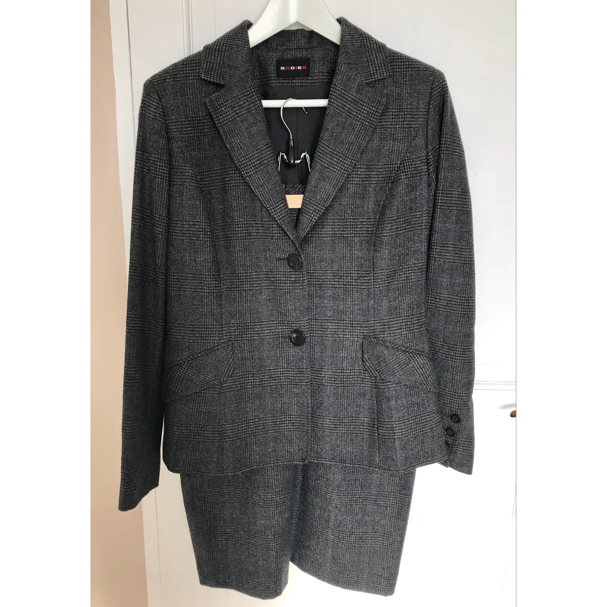 Tailleur jupe RODIER Gris, anthracite