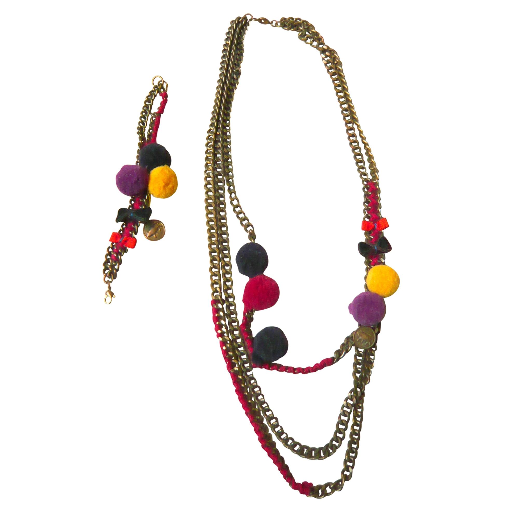 Parure bijoux LES NÉRÉIDES laiton multicolore