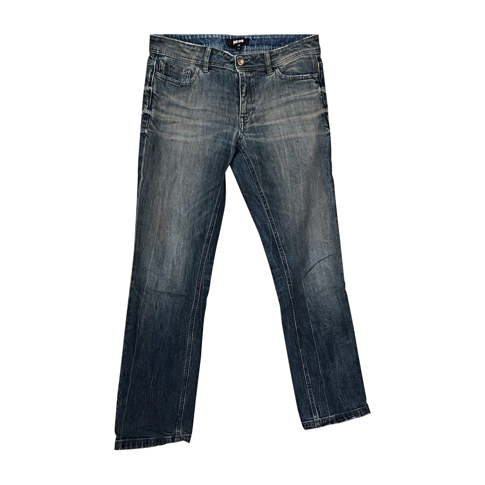 Jeans droit JUST CAVALLI Jeans clair delave