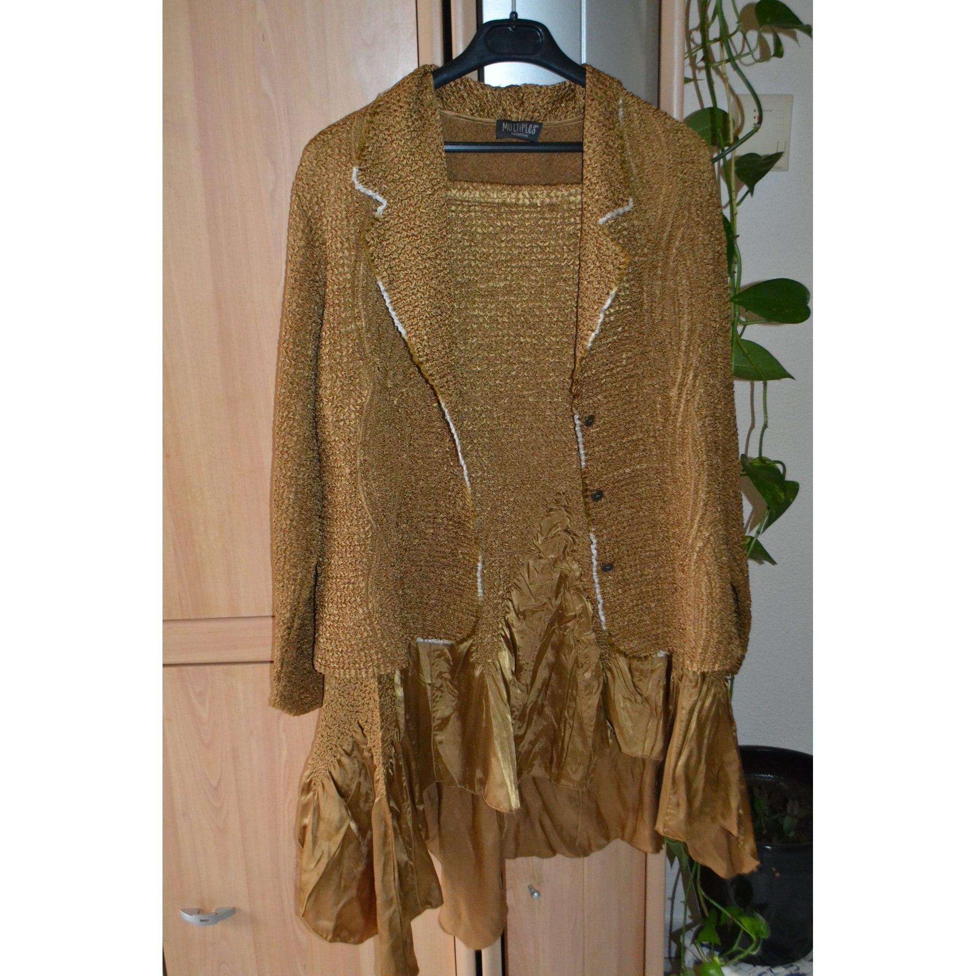 Tailleur jupe MULTIPLES Doré, bronze, cuivre
