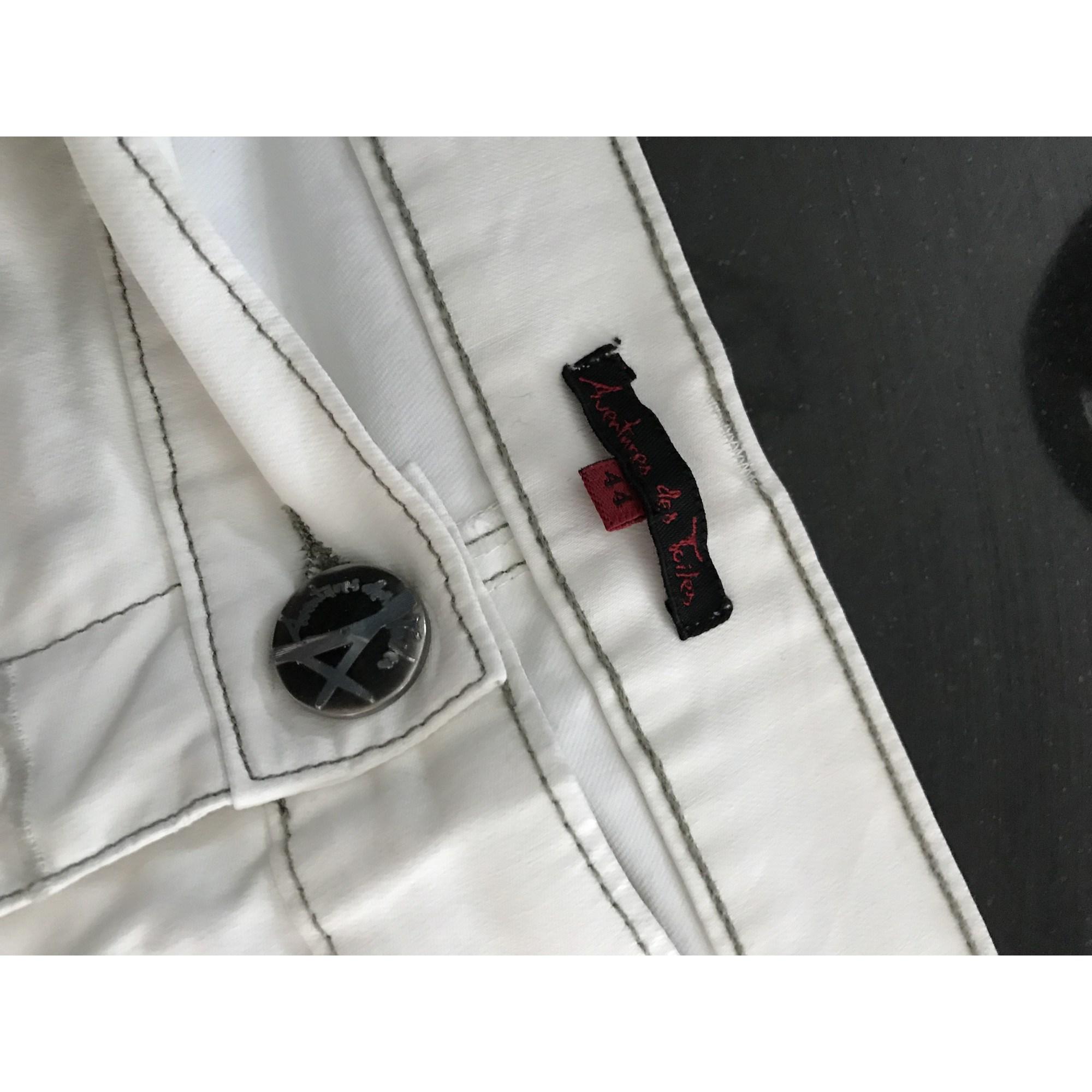 Pantacourt, corsaire AVENTURES DES TOILES Blanc, blanc cassé, écru