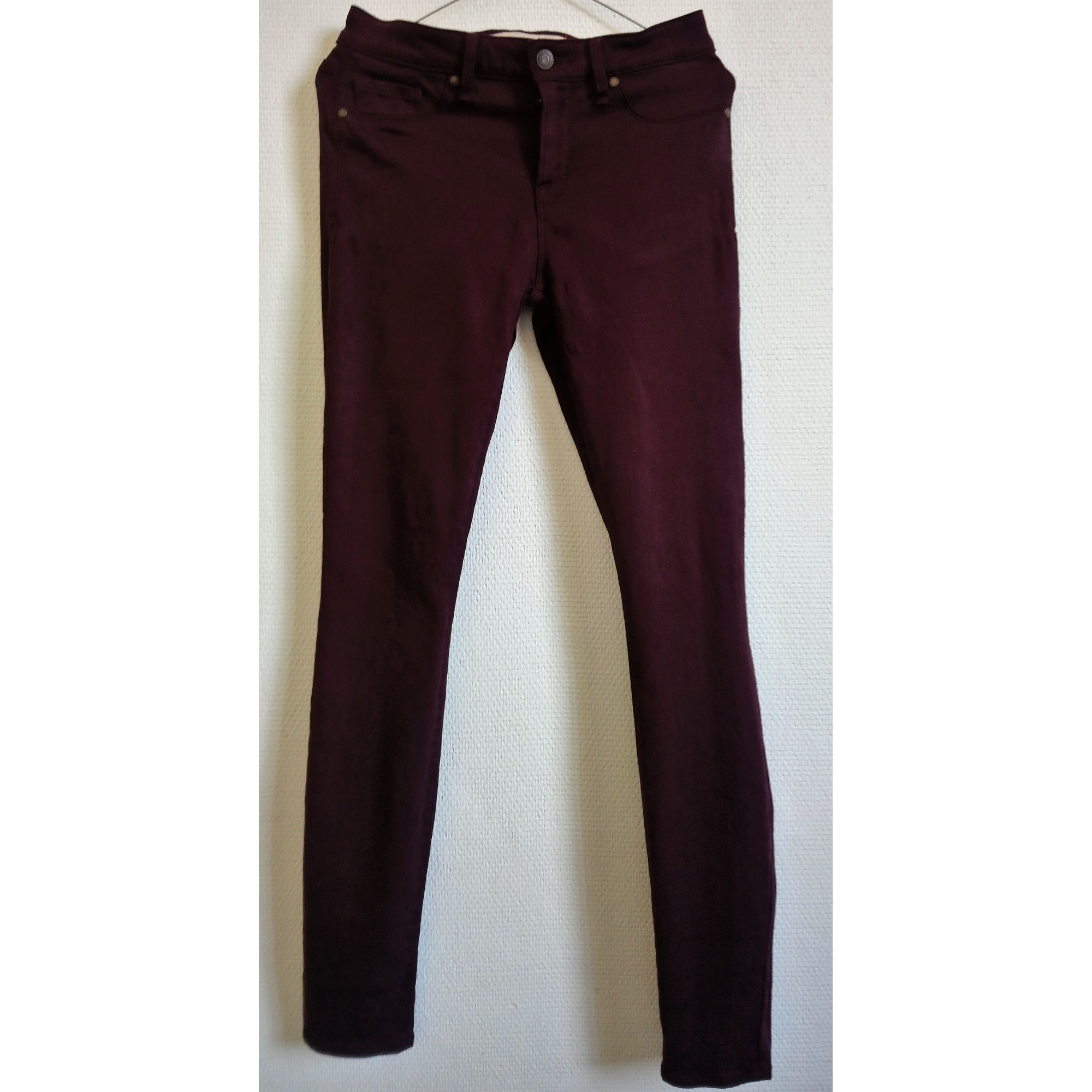 Jeans slim MARC JACOBS Rouge, bordeaux