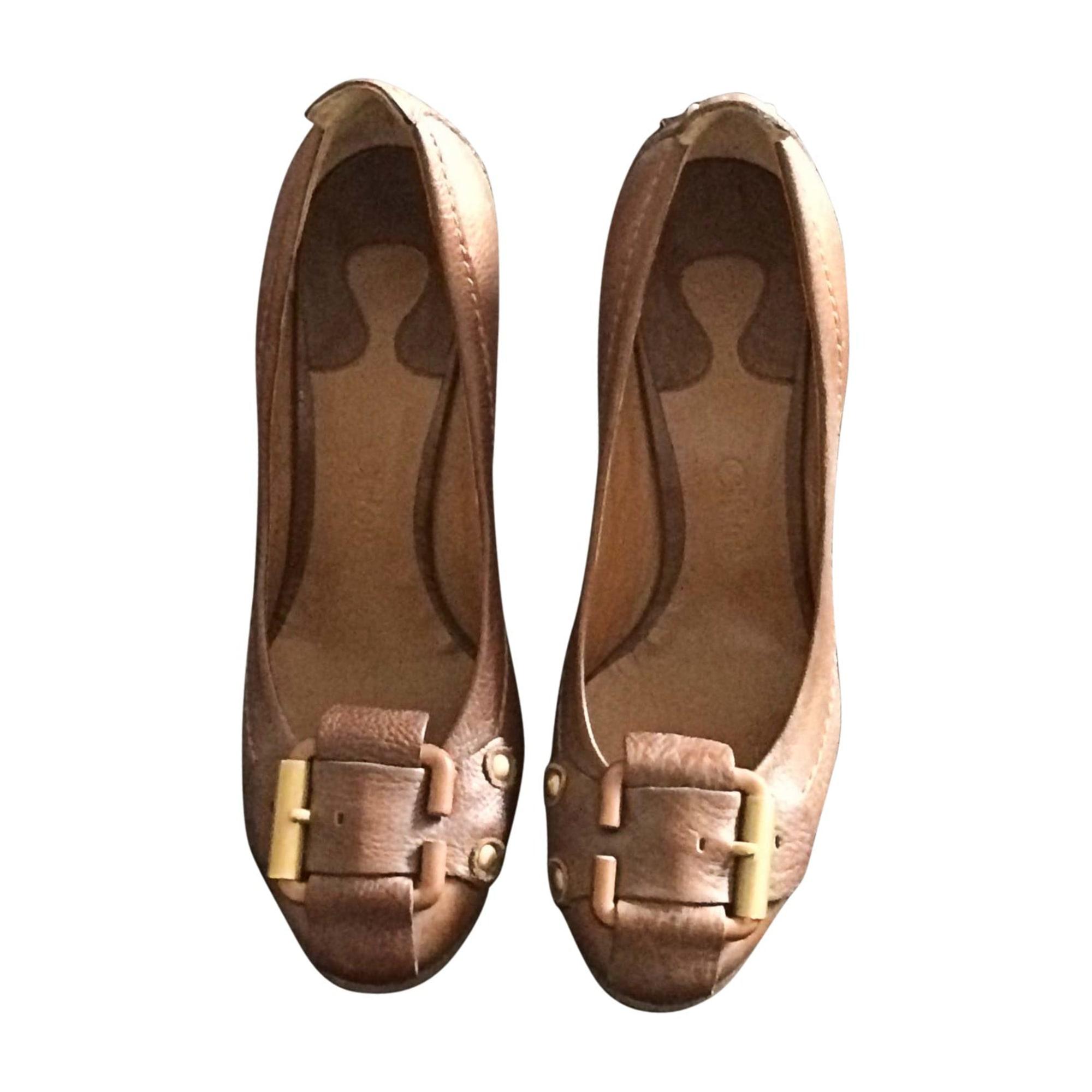 Sandales compensées CHLOÉ Marron