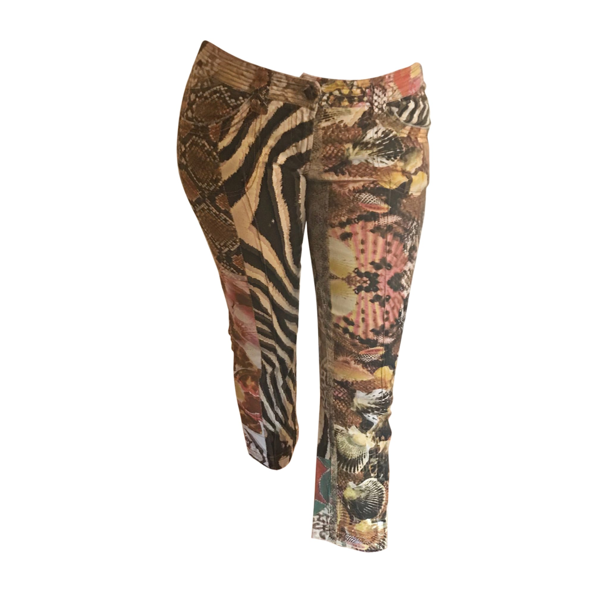 Pantalon droit JUST CAVALLI Multicouleur