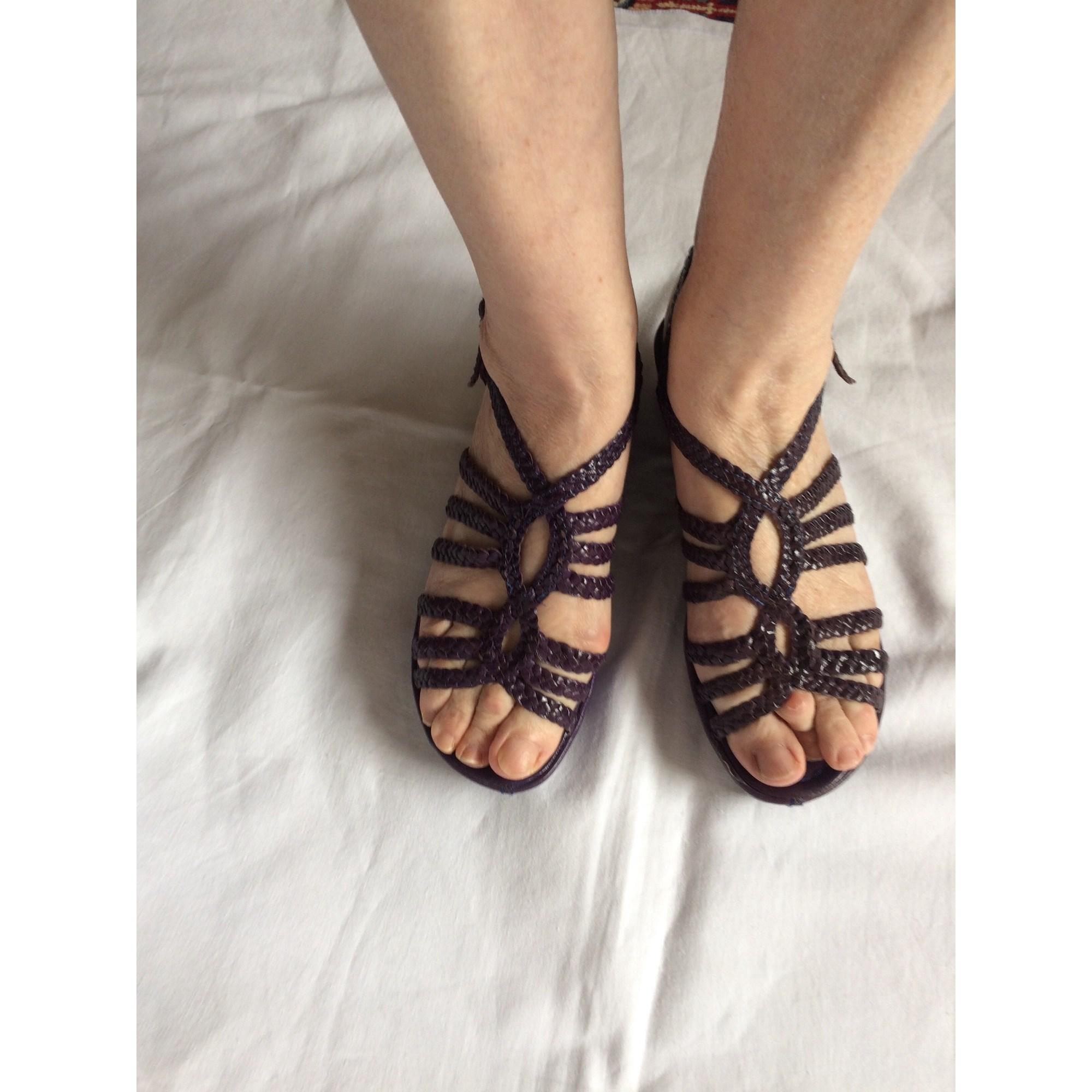 Sandales compensées FRANÇOIS PINET Violet, mauve, lavande