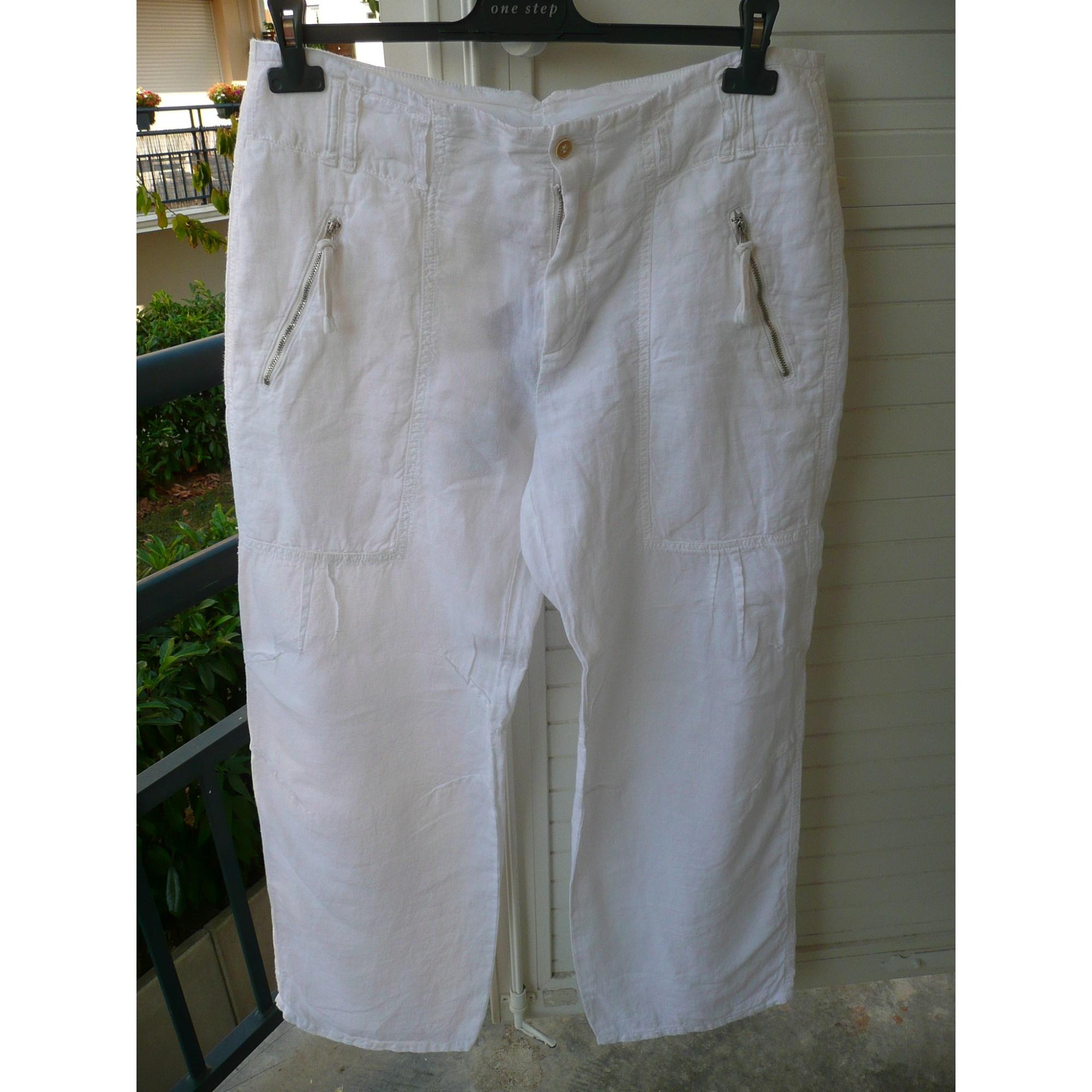 Pantalon large ONE STEP Blanc, blanc cassé, écru