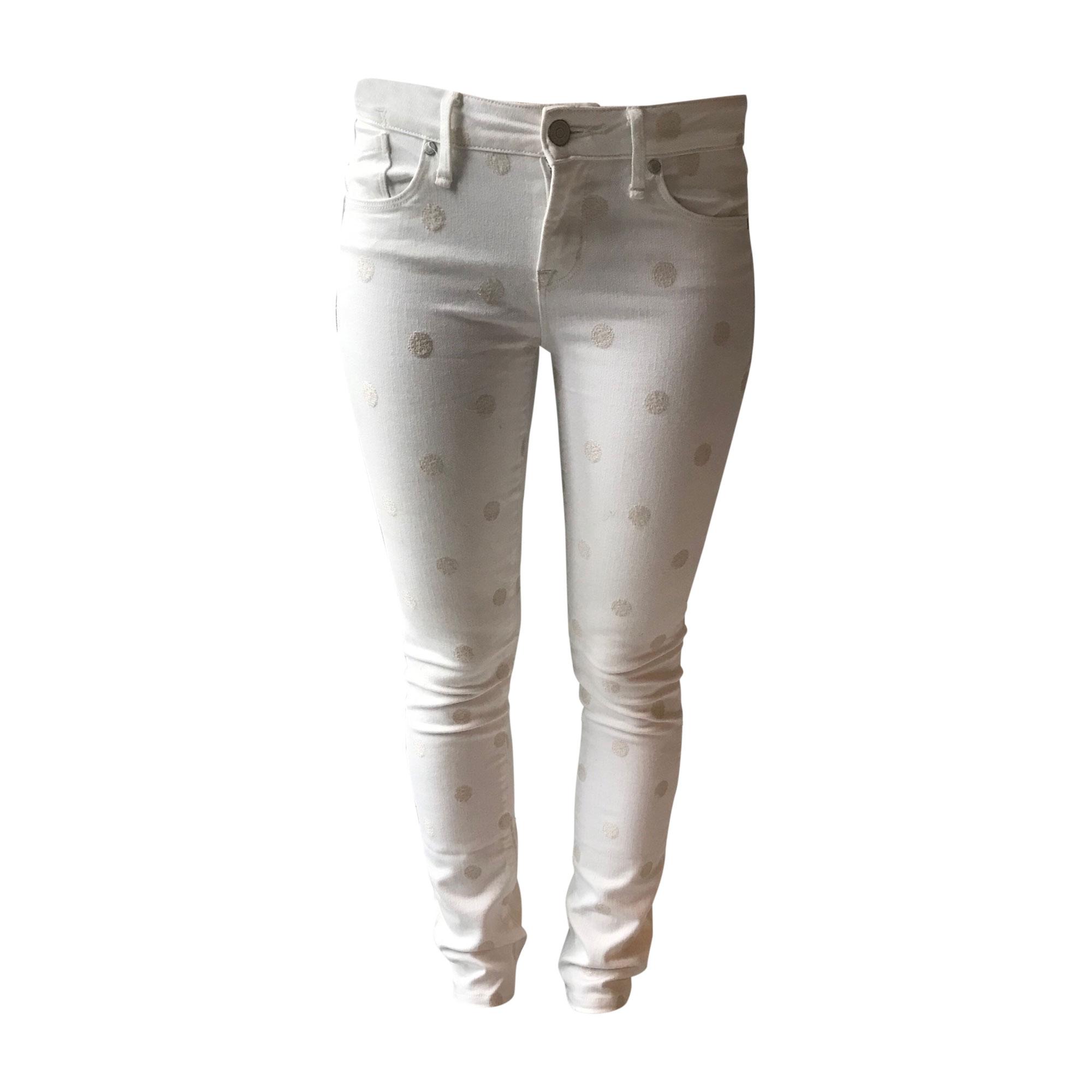 Jeans slim MARC JACOBS Blanc, blanc cassé, écru