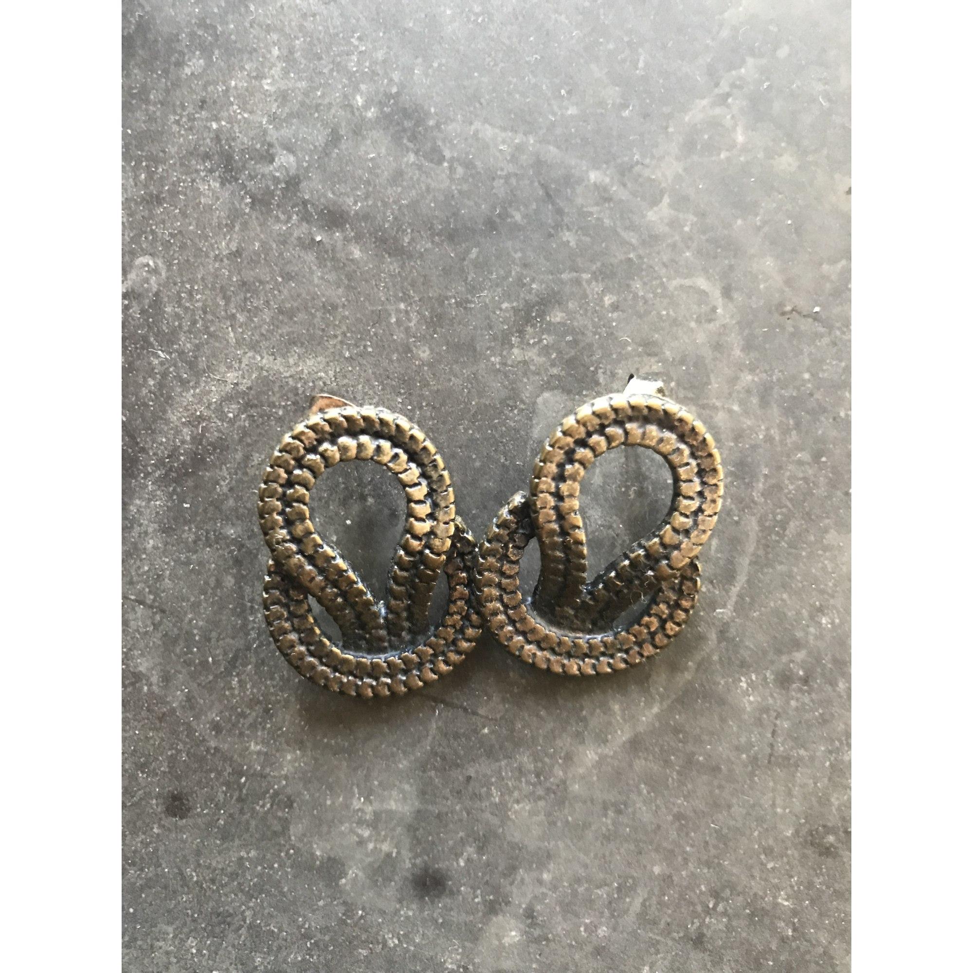 Boucles d'oreille MEDECINE DOUCE plaqué or doré