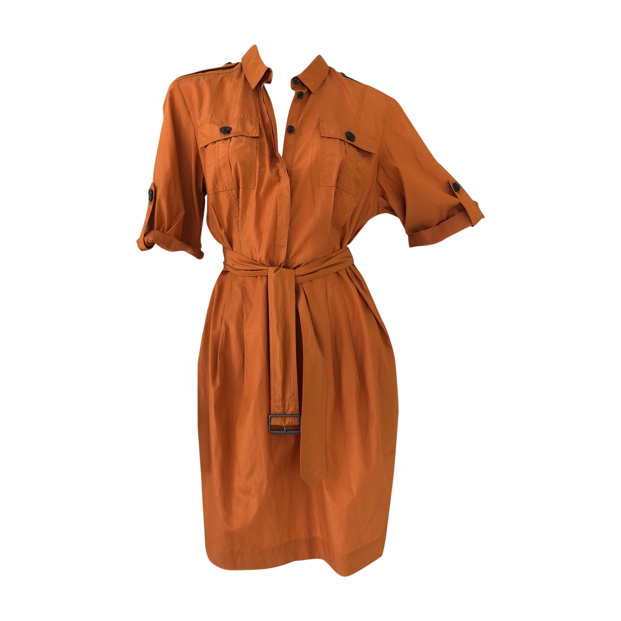 Robe mi-longue BURBERRY Orange
