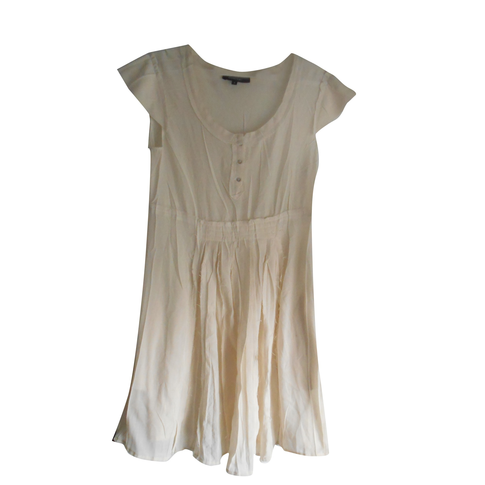 Robe courte COTÉLAC Blanc, blanc cassé, écru