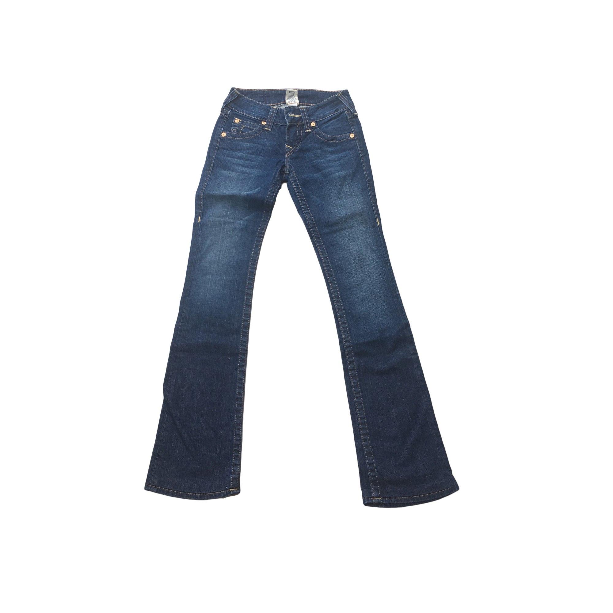 Jeans évasé, boot-cut TRUE RELIGION Bleu, bleu marine, bleu turquoise