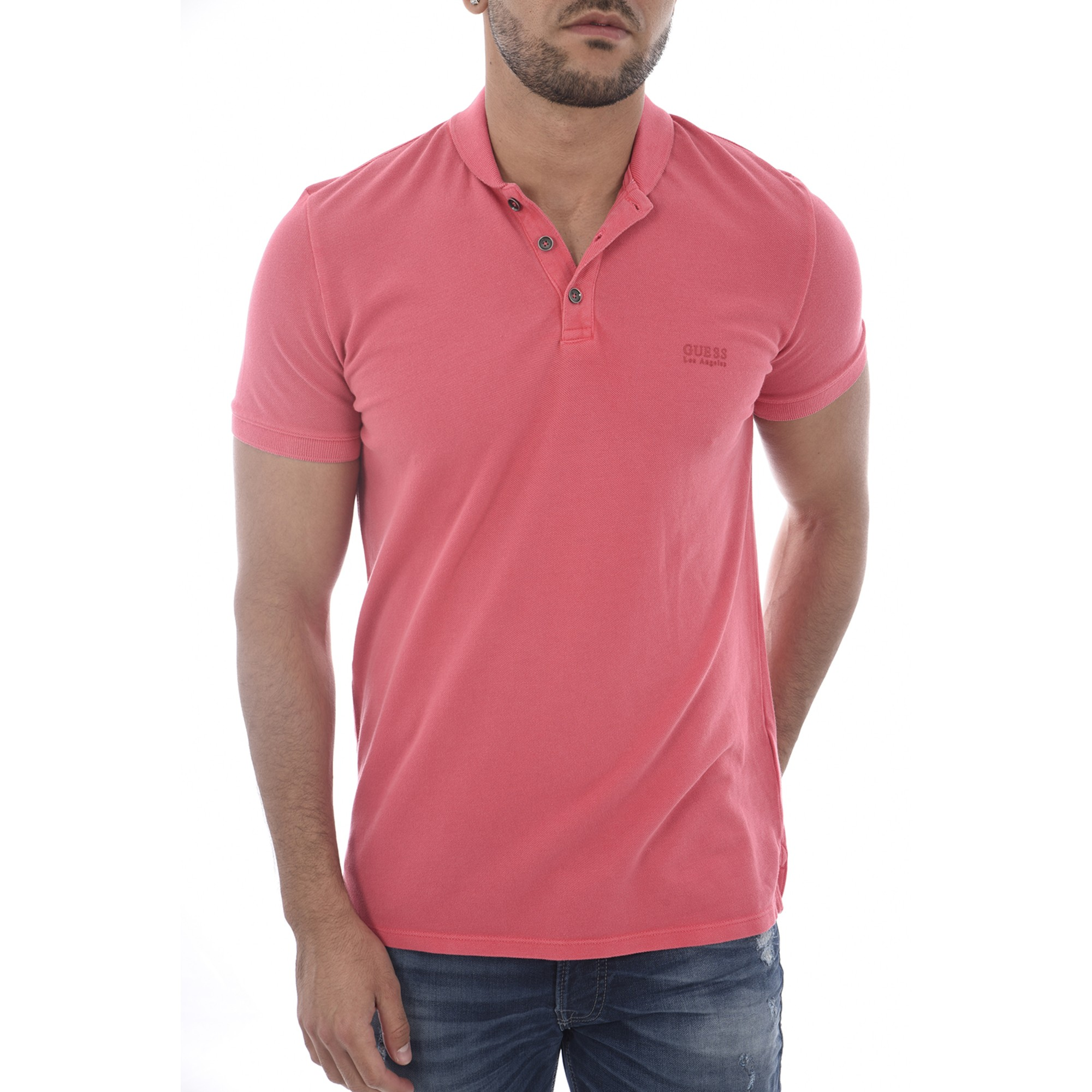 Polo GUESS Rose, fuschia, vieux rose