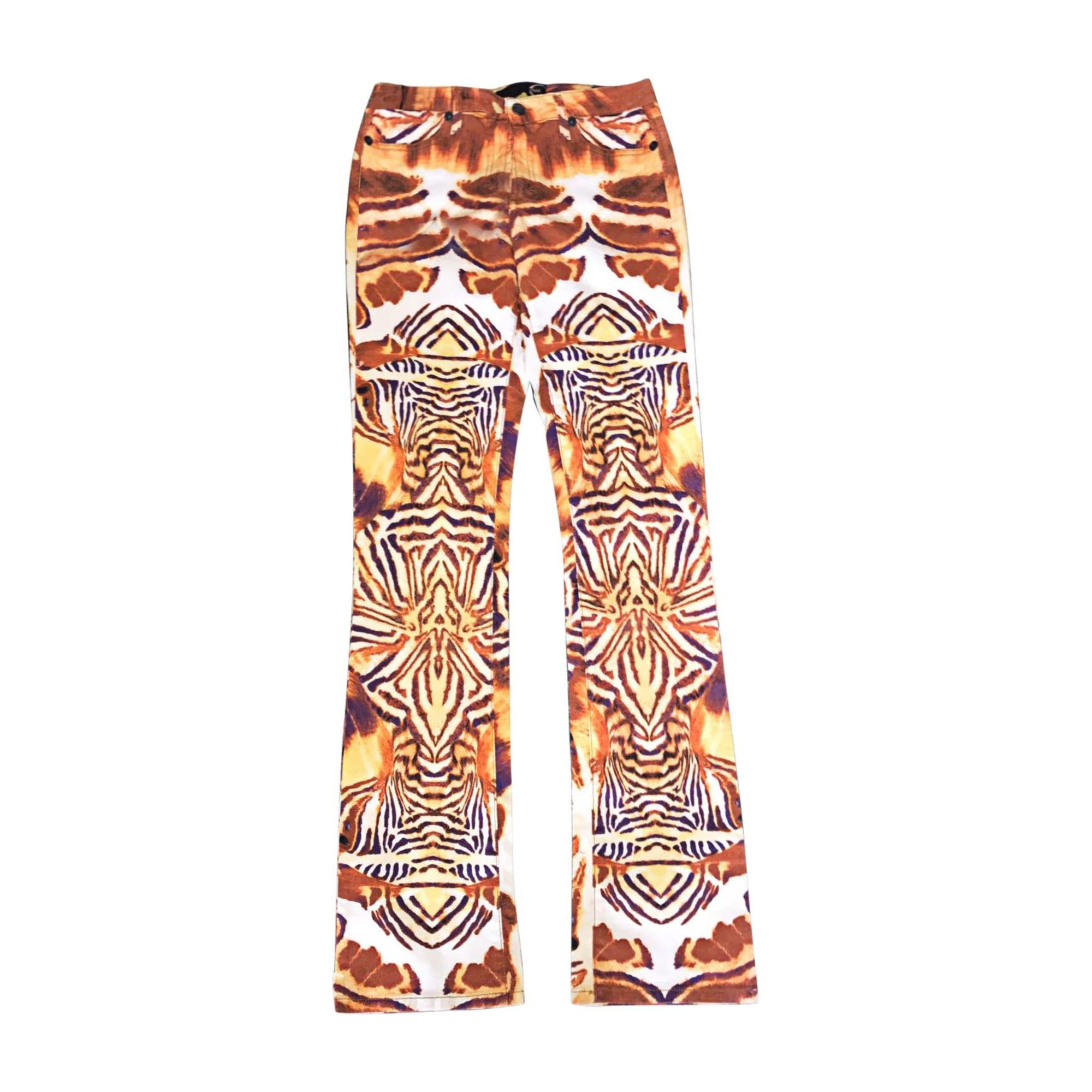 Jeans droit JUST CAVALLI Imprimés animaliers