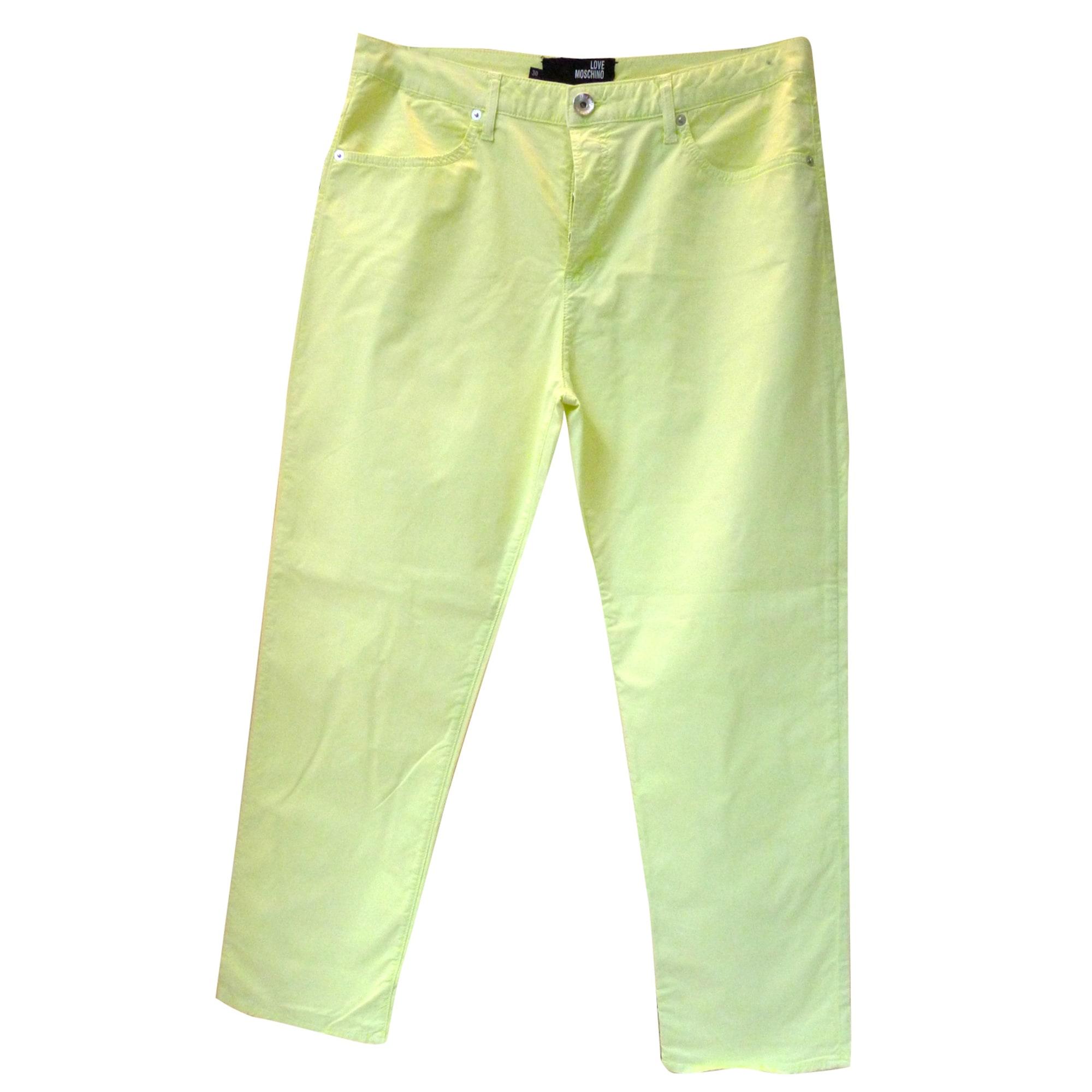 Pantalon droit LOVE MOSCHINO Jaune