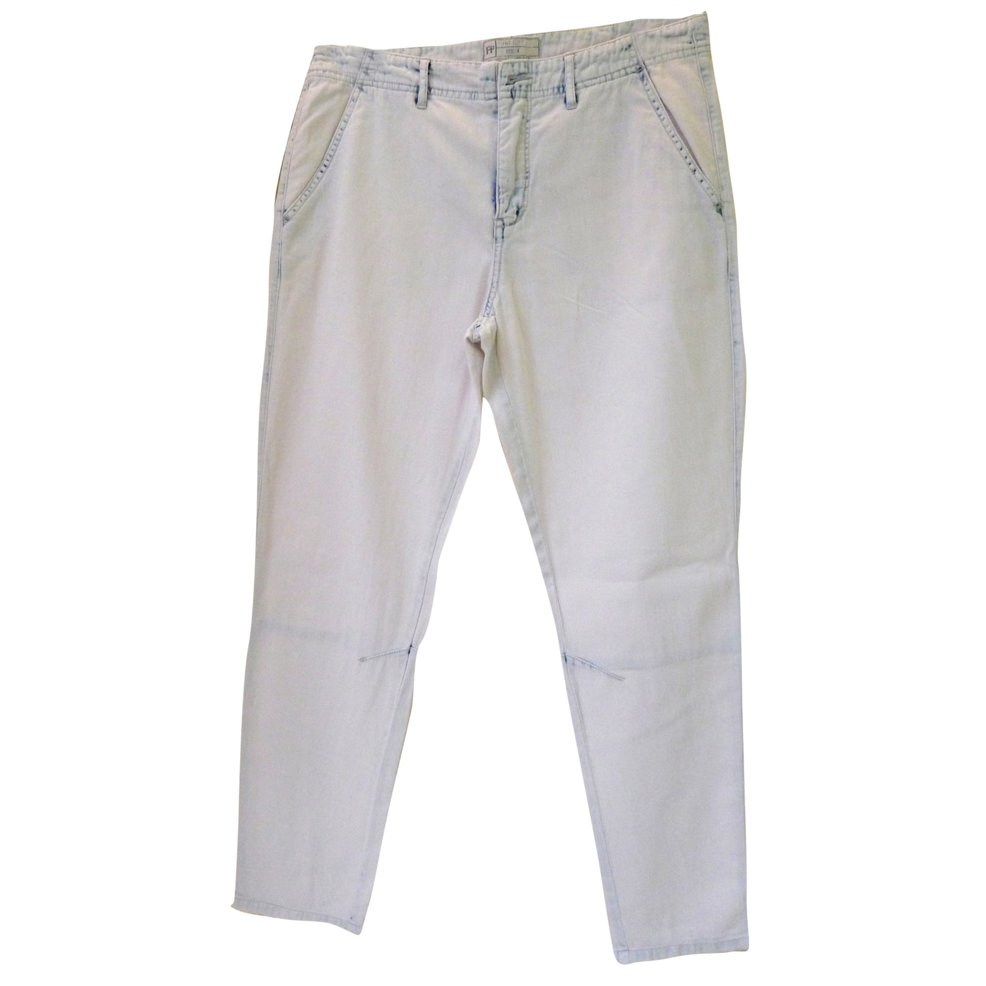 Pantalon large FREE PEOPLE Blanc, blanc cassé, écru