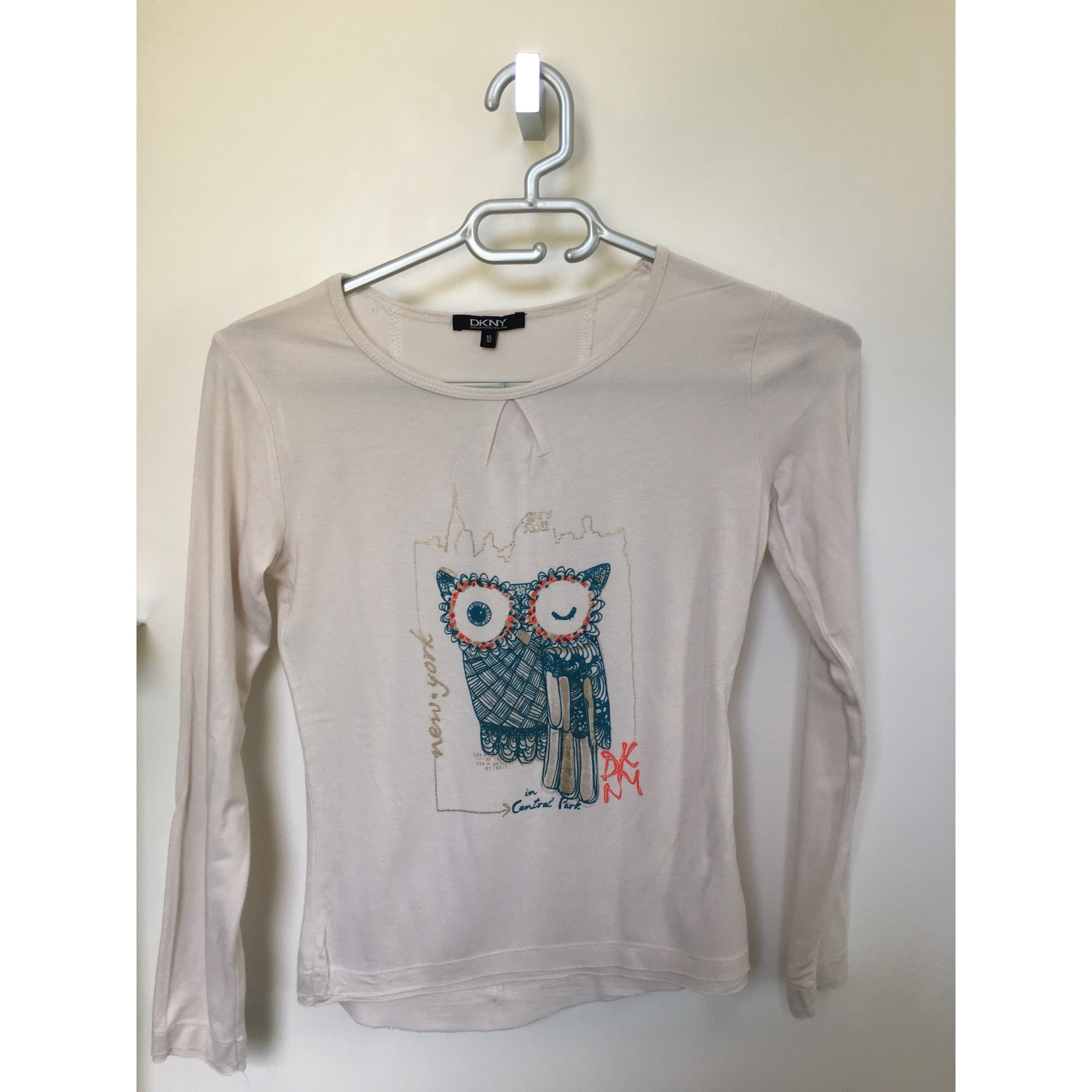 Top, Tee-shirt DKNY Beige, camel
