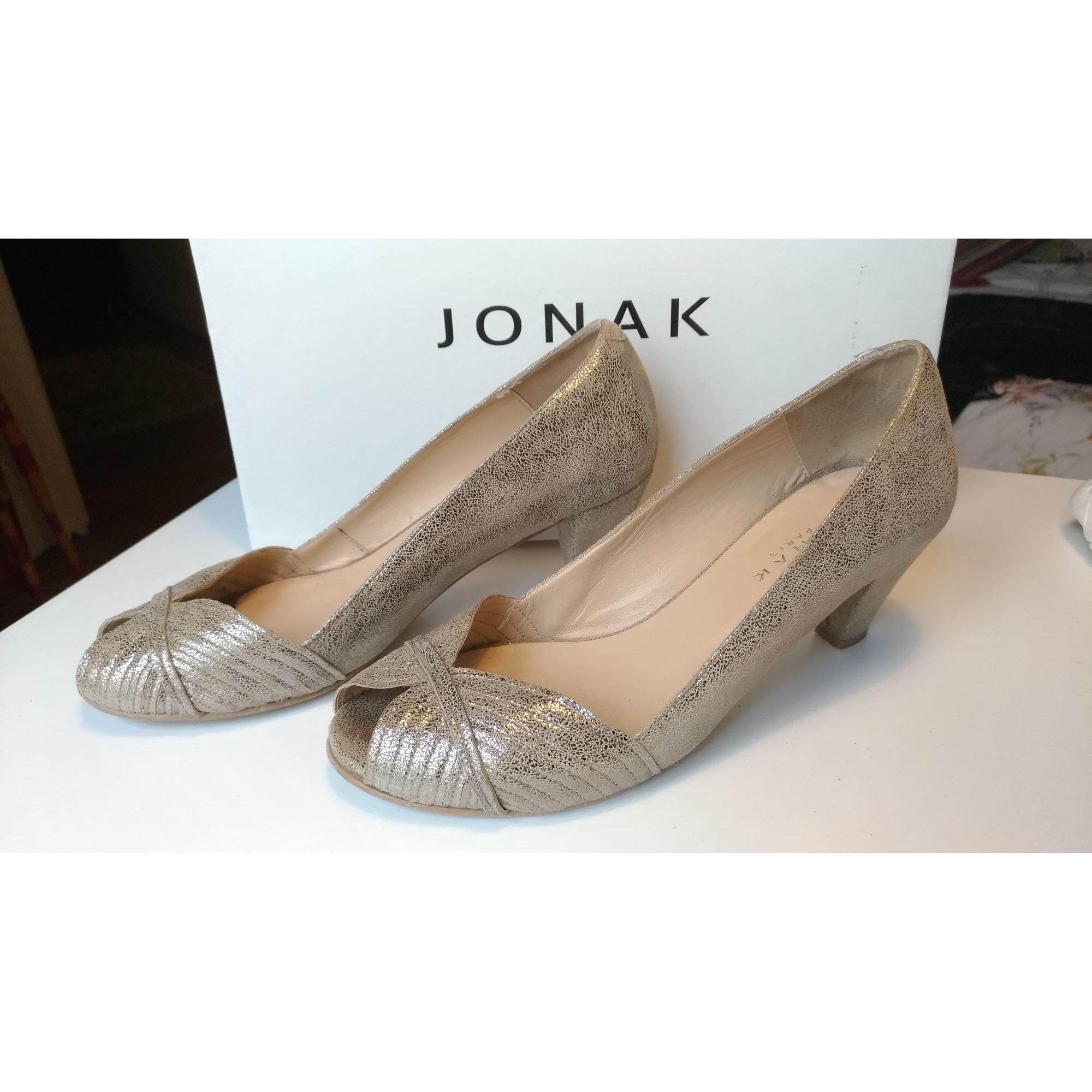 Escarpins à bouts ouverts JONAK 37 doré vendu par Apolina