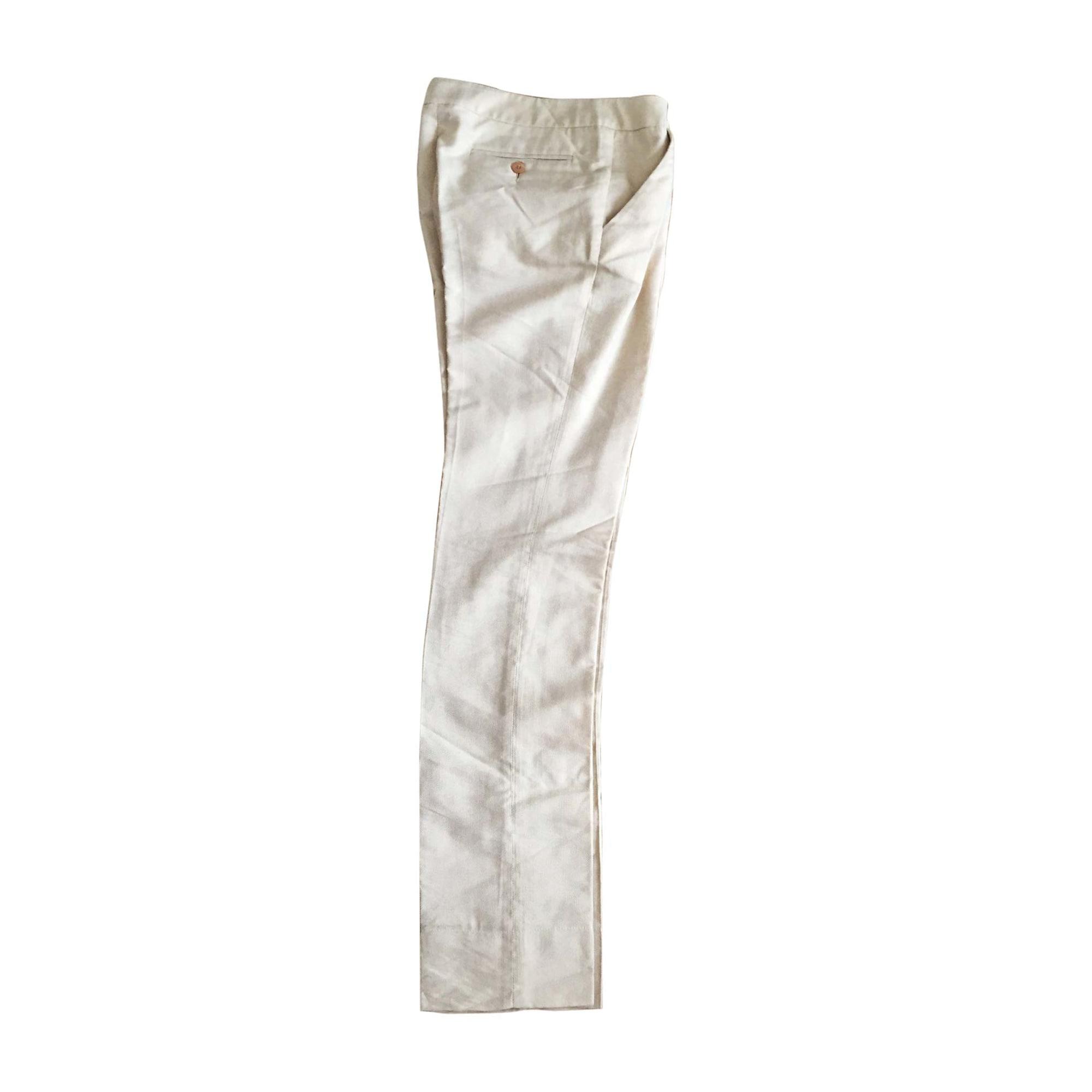 Pantalon droit JUST CAVALLI Blanc, blanc cassé, écru