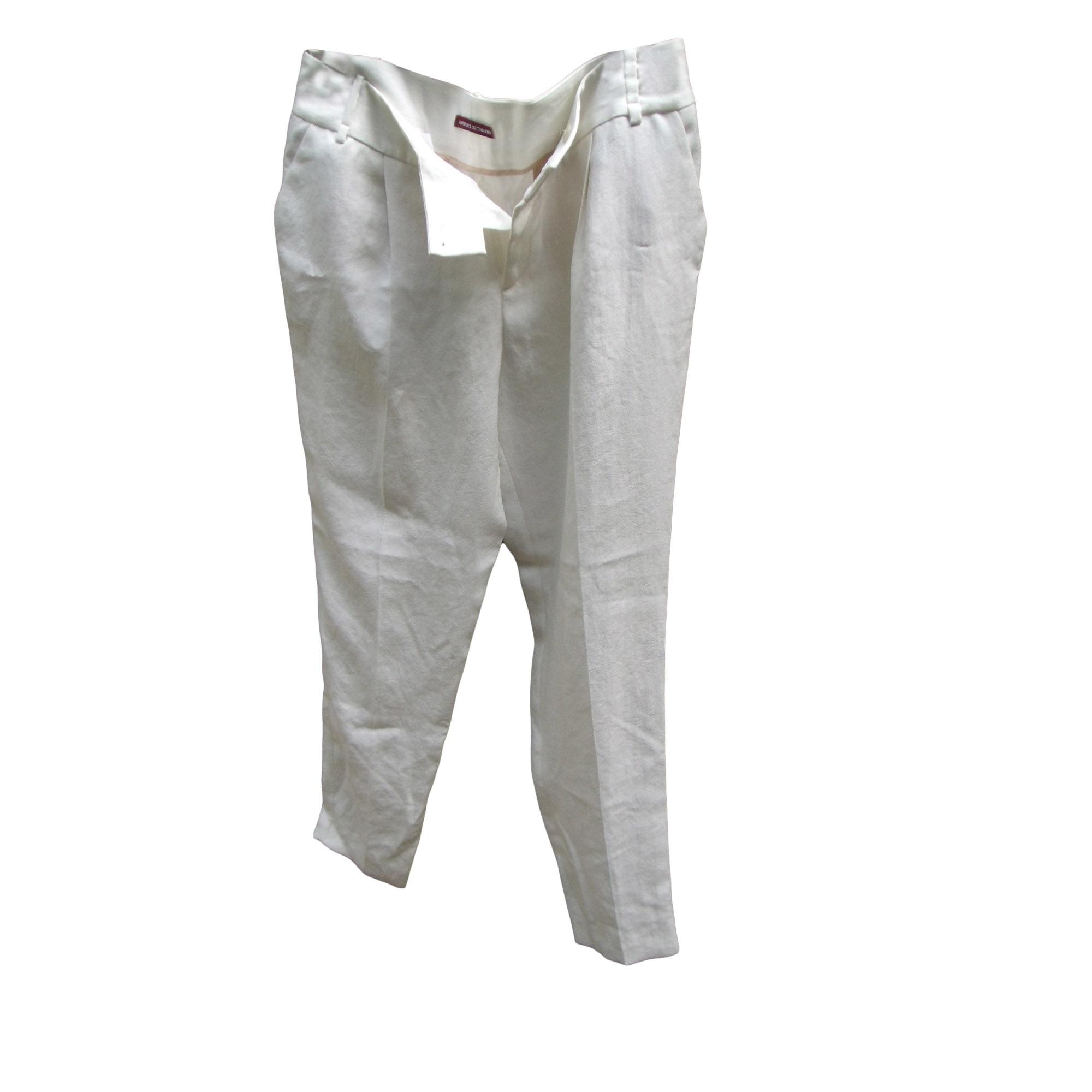 Pantalon large COMPTOIR DES COTONNIERS Blanc, blanc cassé, écru